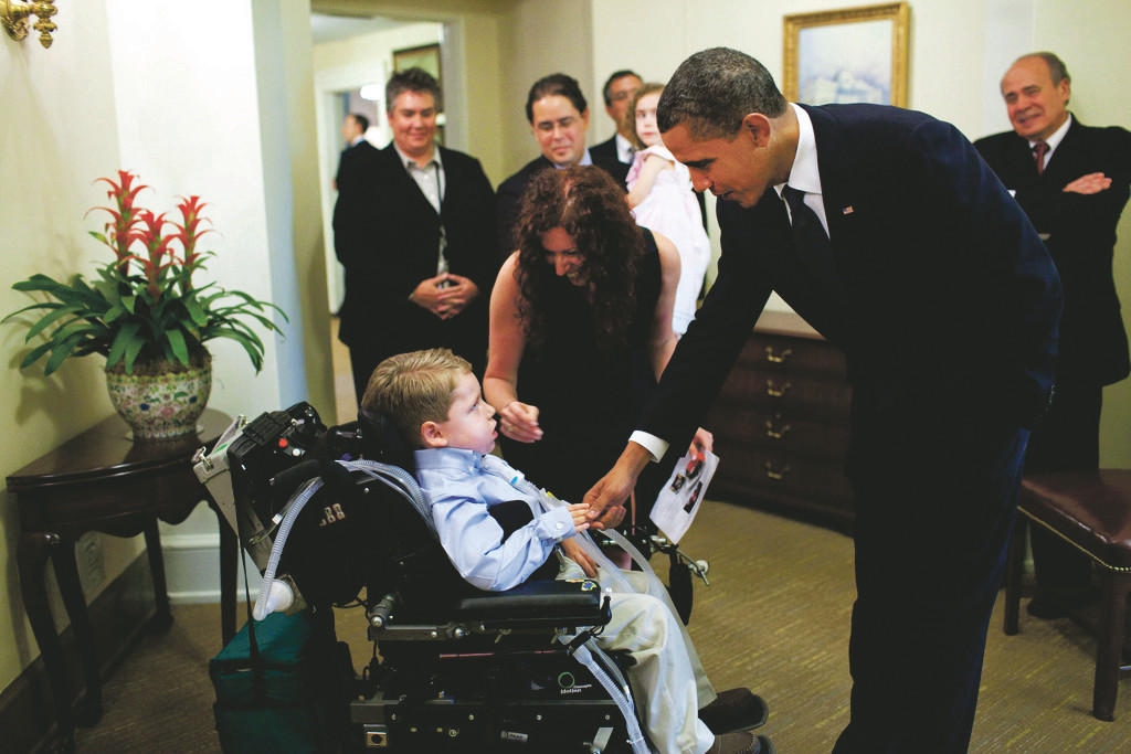 Dylan met President Barack Obama in 2010 through the Make-A-Wish Foundation.