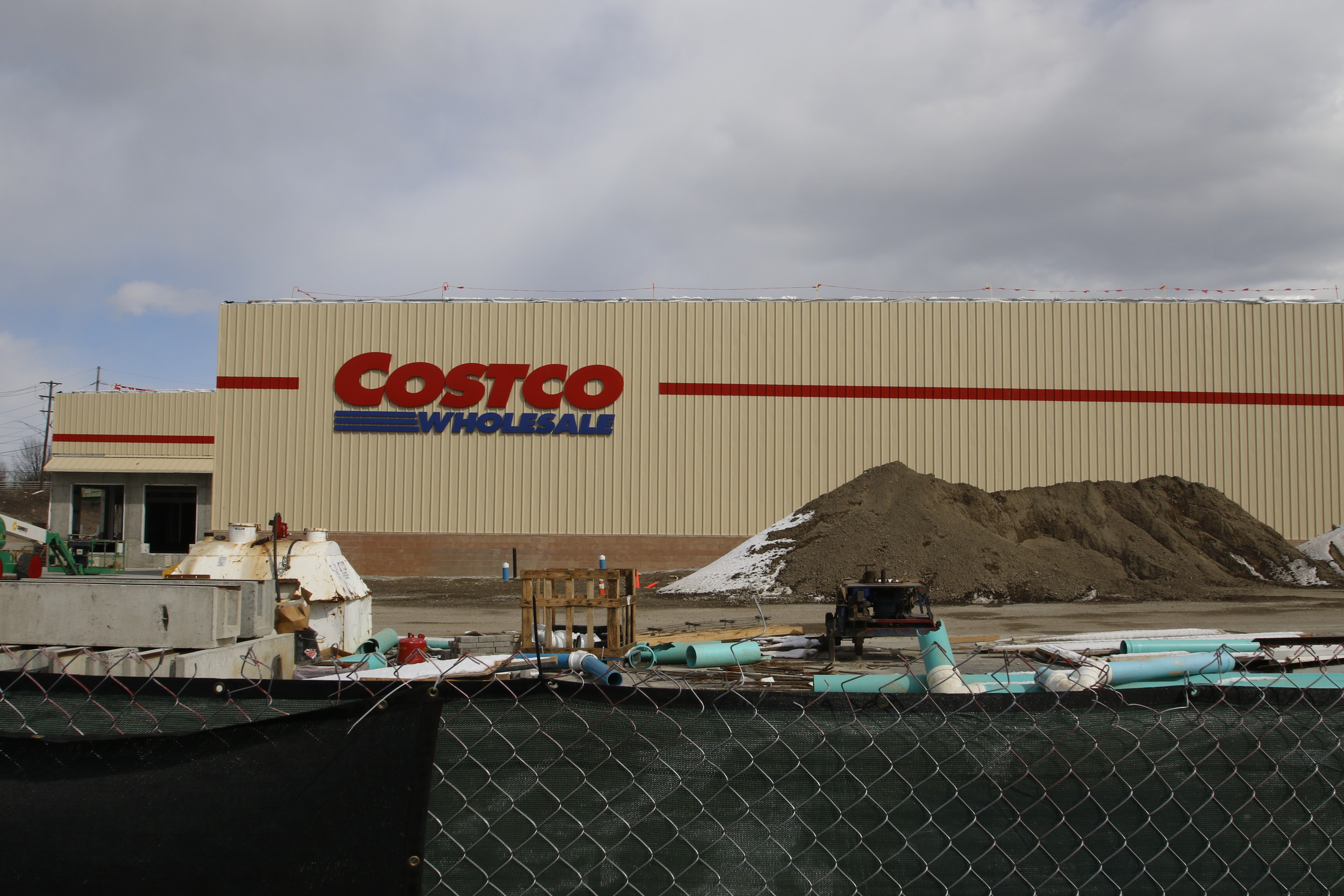 The Oceanside Costco location as construction neared completion in March. The store is set to open on Aug. 23