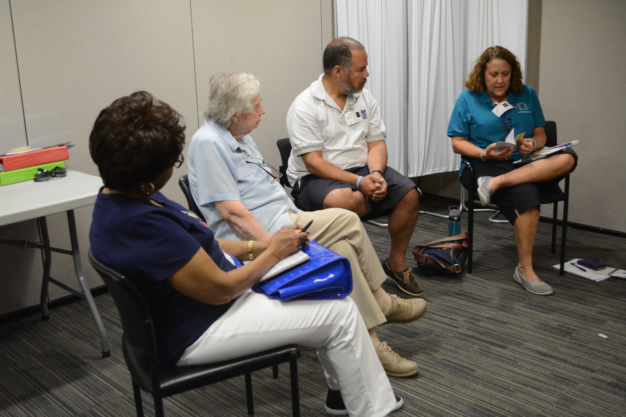 Members of the ThyCa support group shared details of their most recent doctor visits.