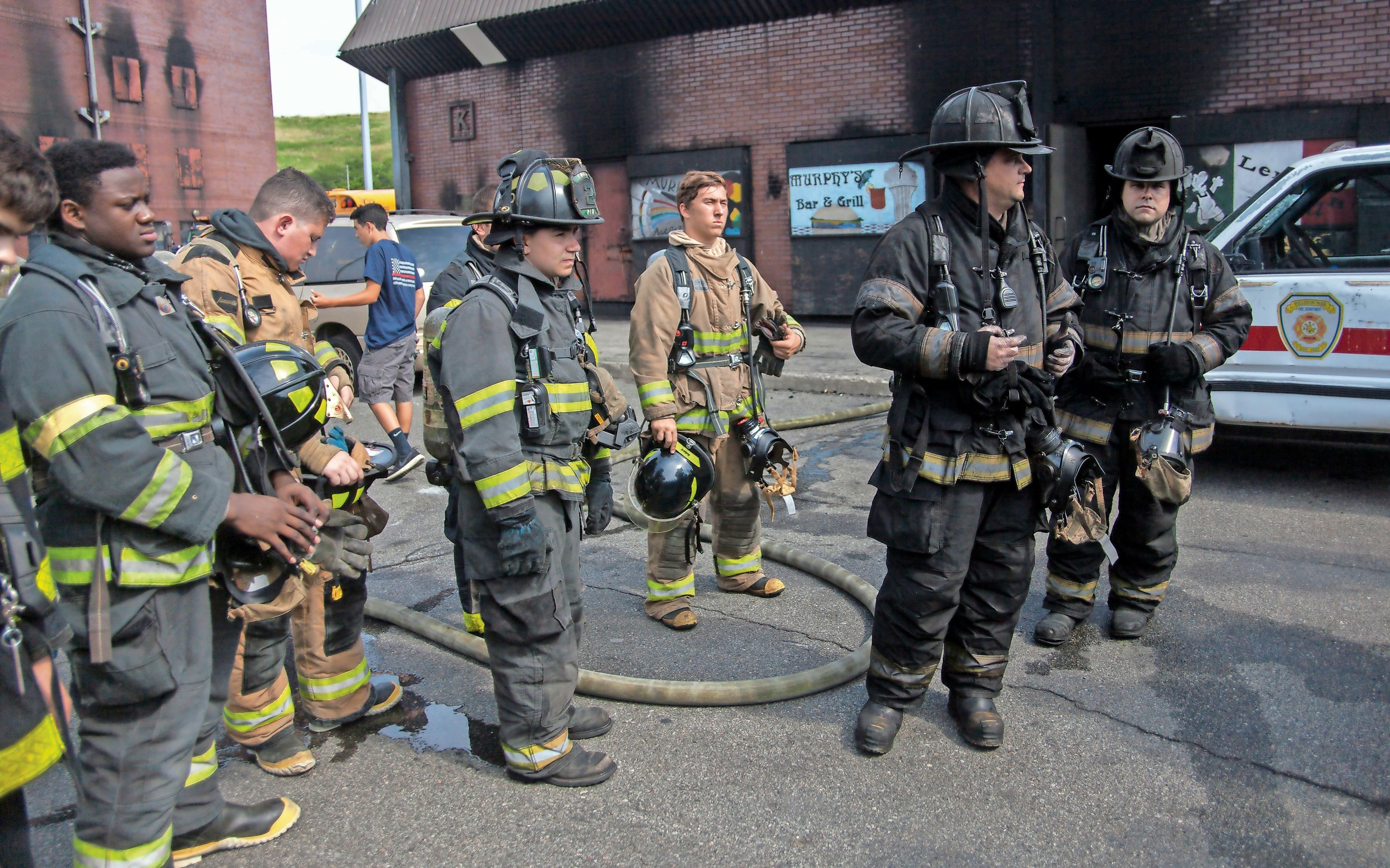 The fire camp in Old Bethpage is the only remaining facility in Nassau County that still uses real fire during training sessions.