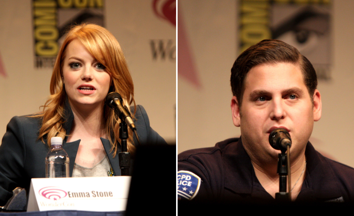Emma Stone, left, and Jonah Hill spoke at the 2012 WonderCon in Anaheim, Calif.