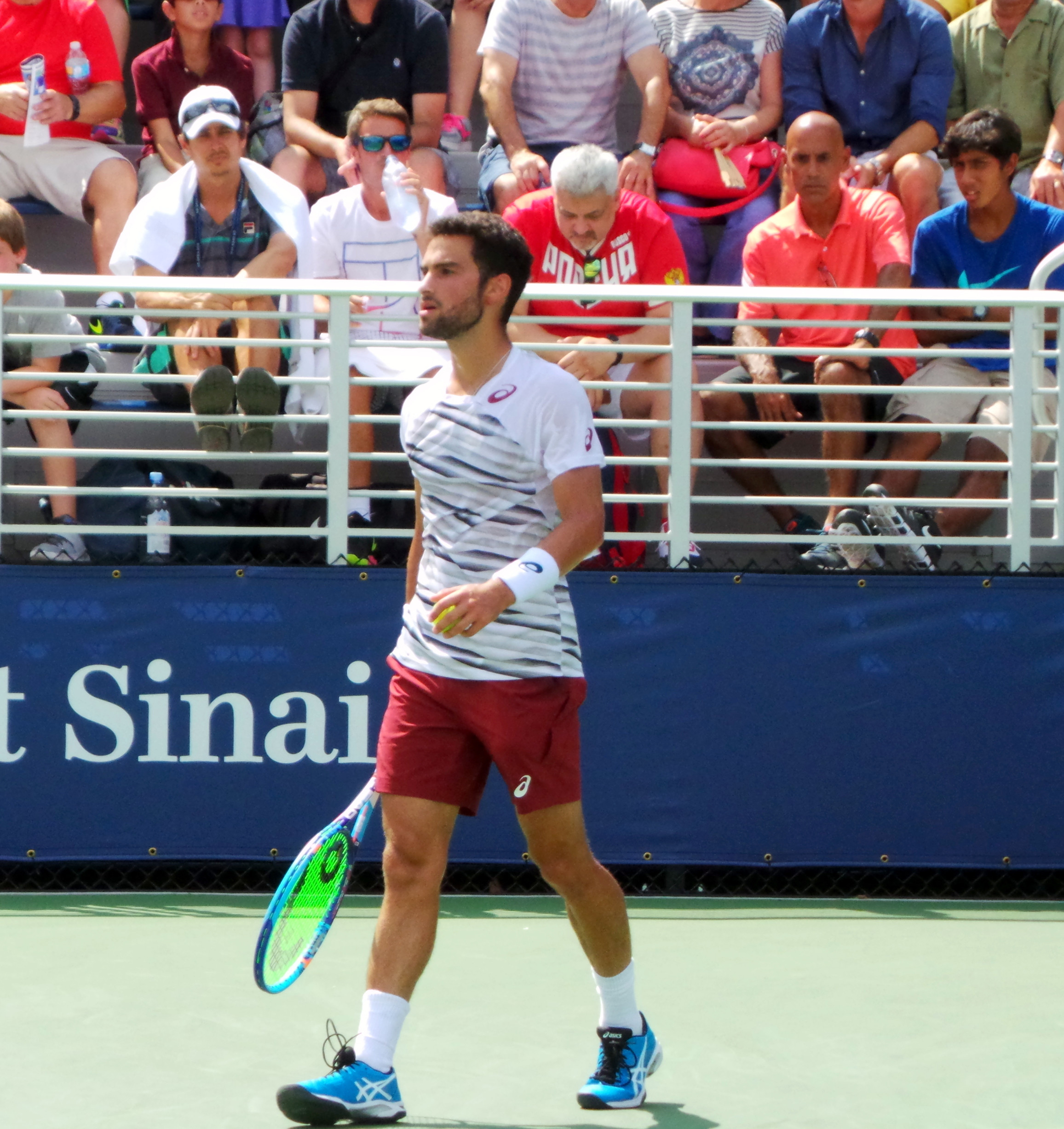 Noah Rubin during the Qualifying Tournaments at the U.S. Open in 2016.