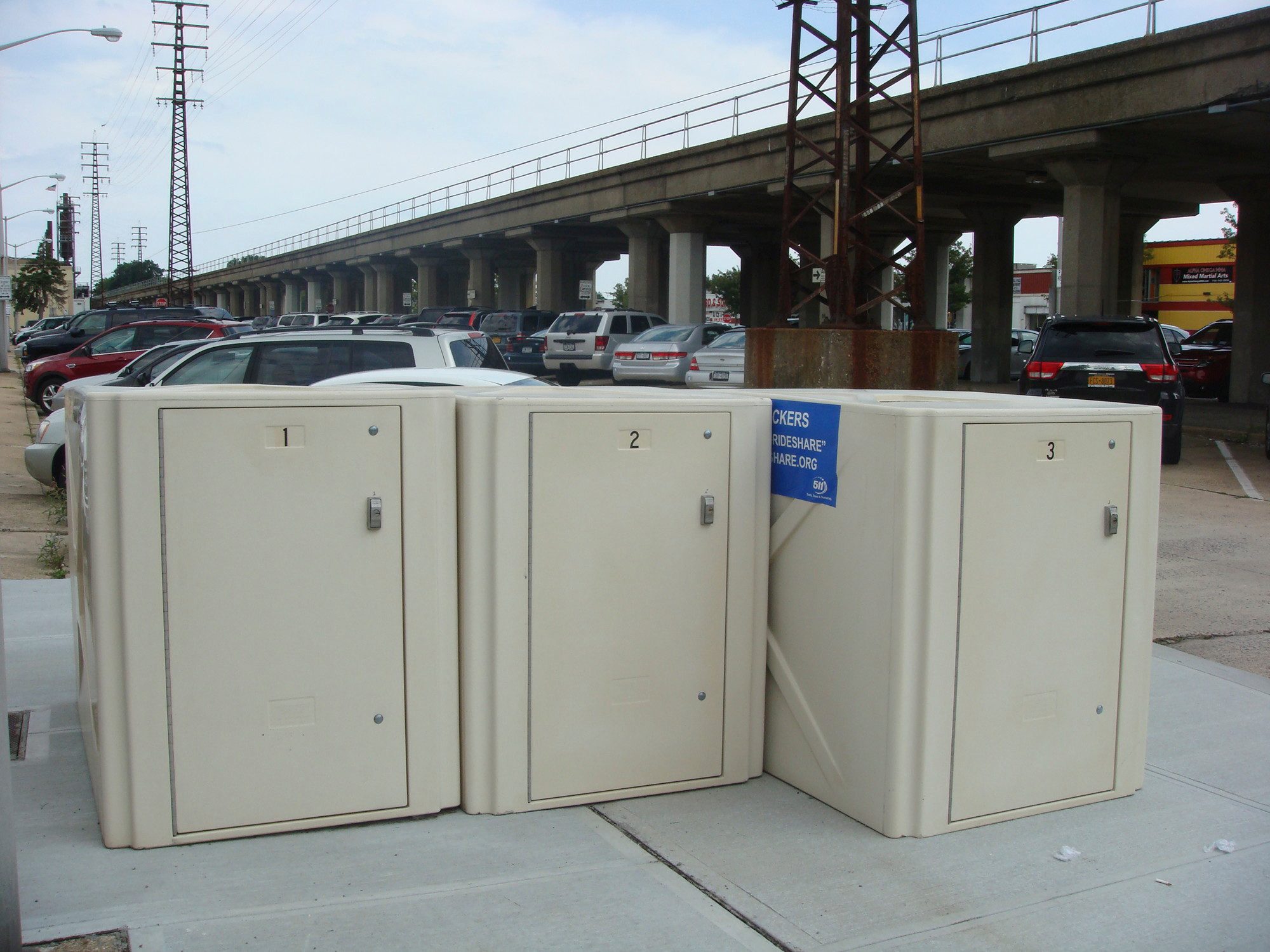 Other LIRR stations, like Rockville Centre, have installed bike lockers for public use.