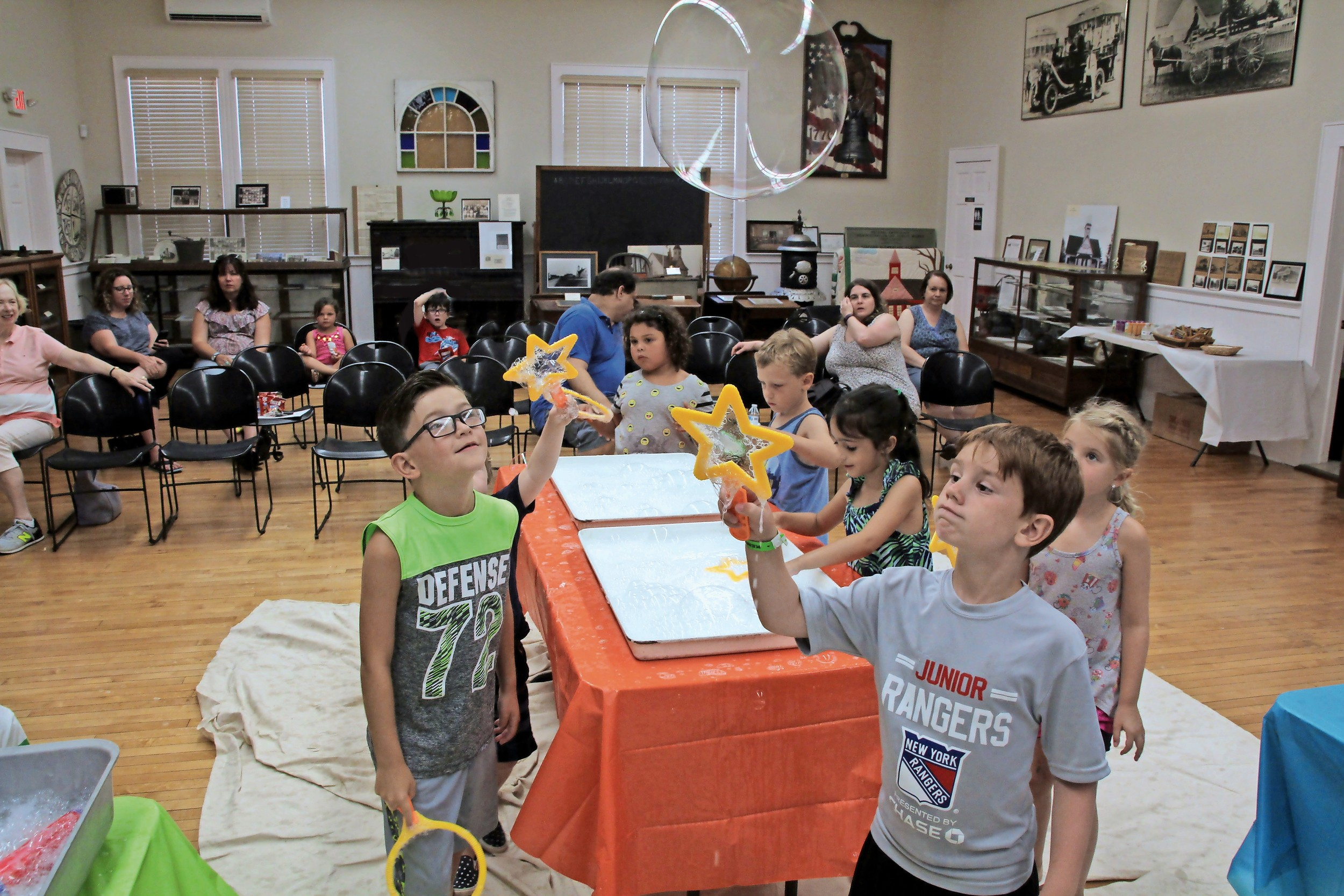 Local children explored the Seaford Museum during Bubbles POP — the first class in the historical society's Kids Summer Series.
