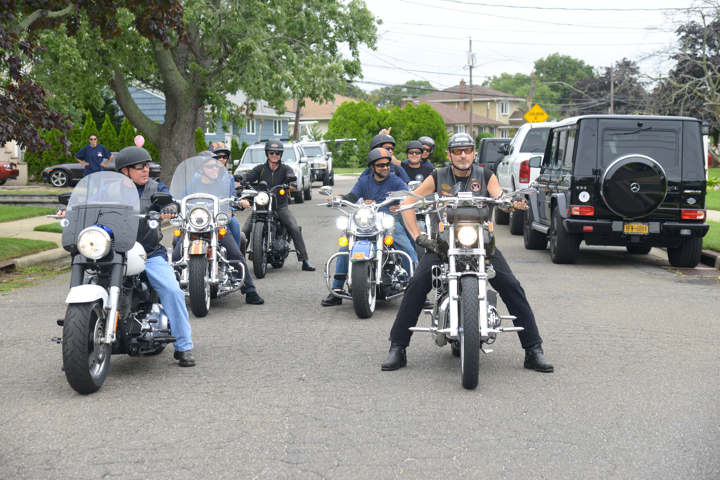 The riders set off from Oceanside