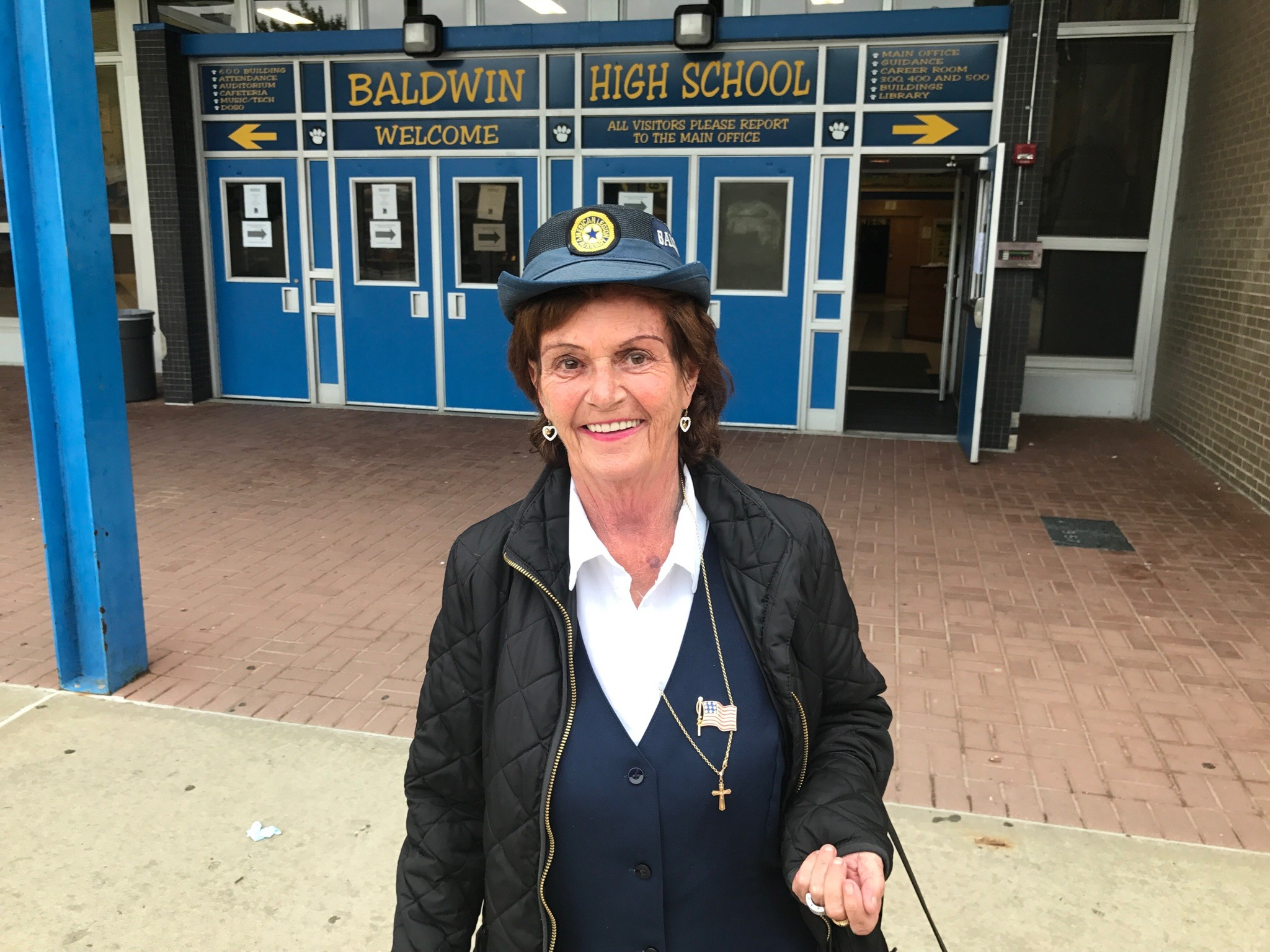 "Diane ""Dee"" Ankner, former president of the American Legion Auxiliary, at Baldwin High School."