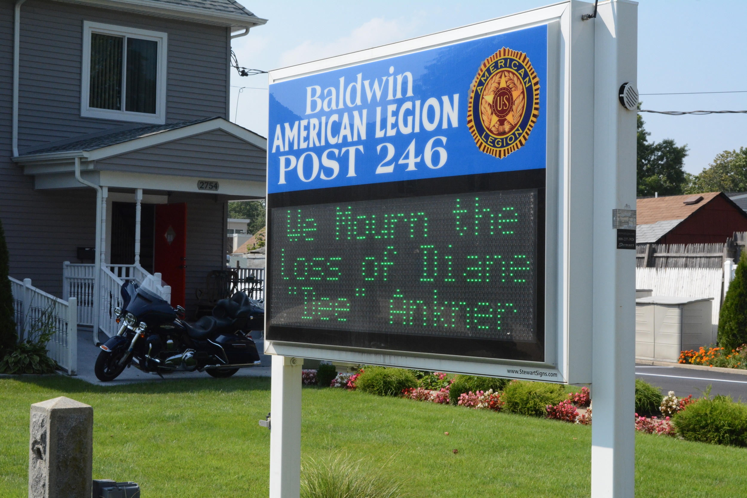 American Legion Post #246 honored Diane Ankner's memory.