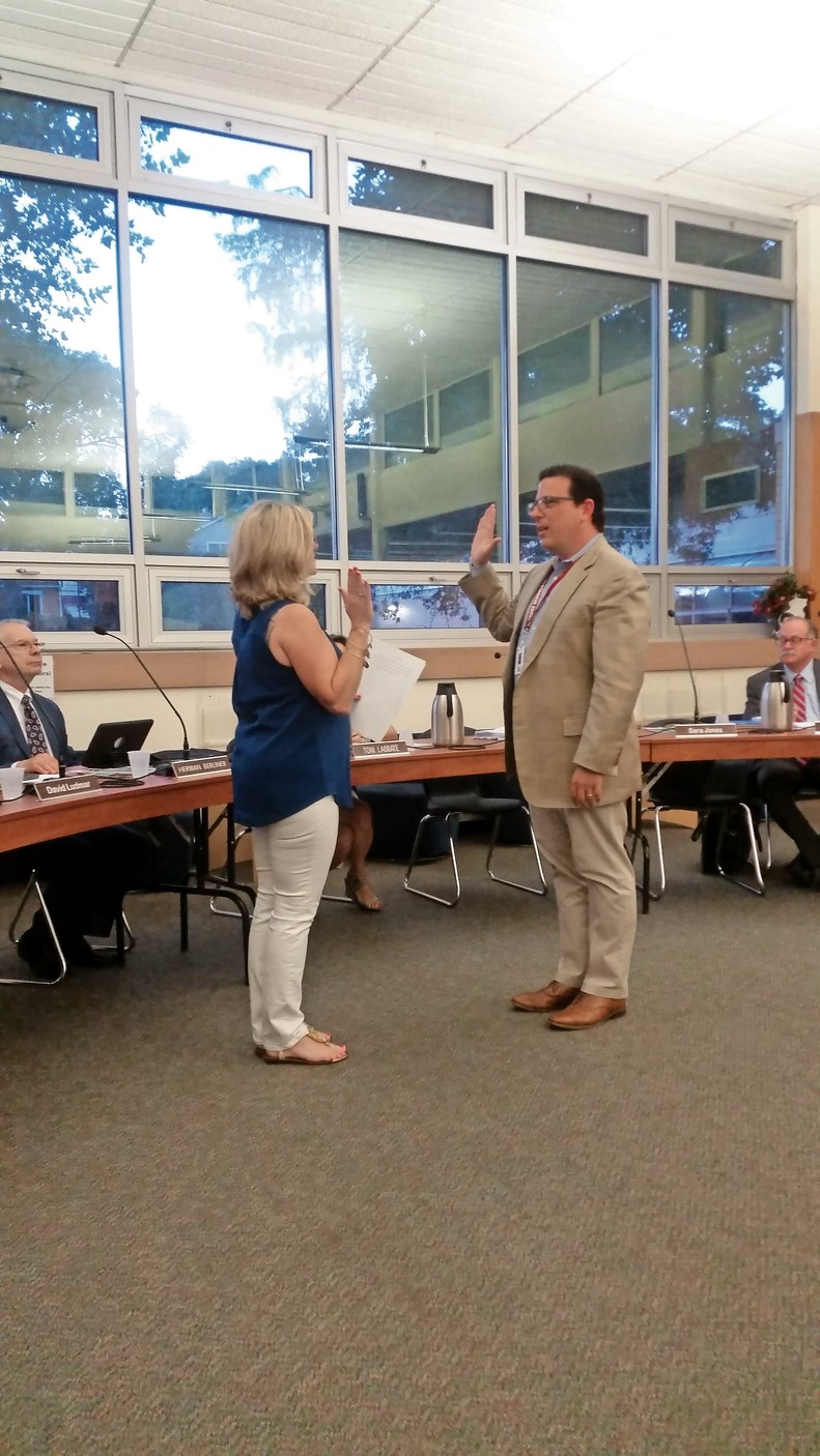 Superintendent Dr. Peter Giarrizzo, who was sworn in at the North Shore School District's Aug. 24 meeting, said that the Board of Education needs to gather more data before reaching a decision on PreVenture.