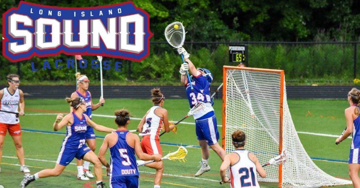 Goalie Kelsey Gregerson, of Rockville Centre, made a save for the Long Island Sound, a team in the United Women's Lacrosse League.