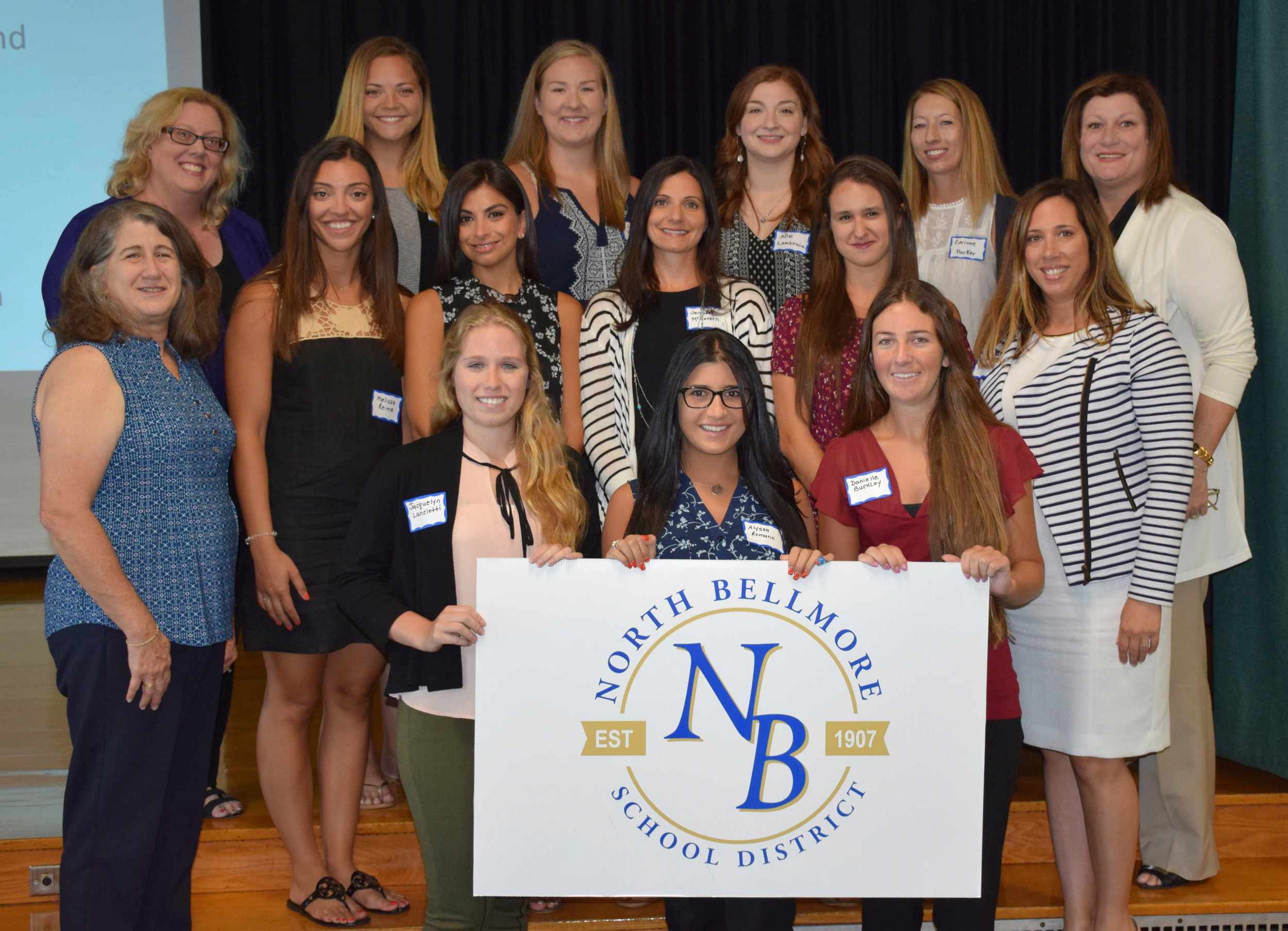 The newest members of the North Bellmore School District's teaching staff were joined by administrators and board of education members at orientation on Aug. 24.