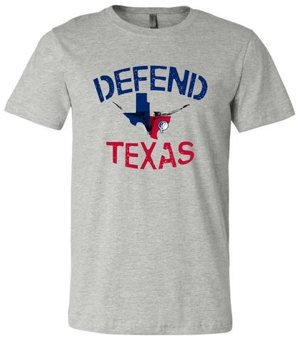 "Long Trunks is selling ""Defend Texas"" T-shirts, priced at $25 each, to help raise money for storm victims. All proceeds will be donated to aid those impacted by the storm."
