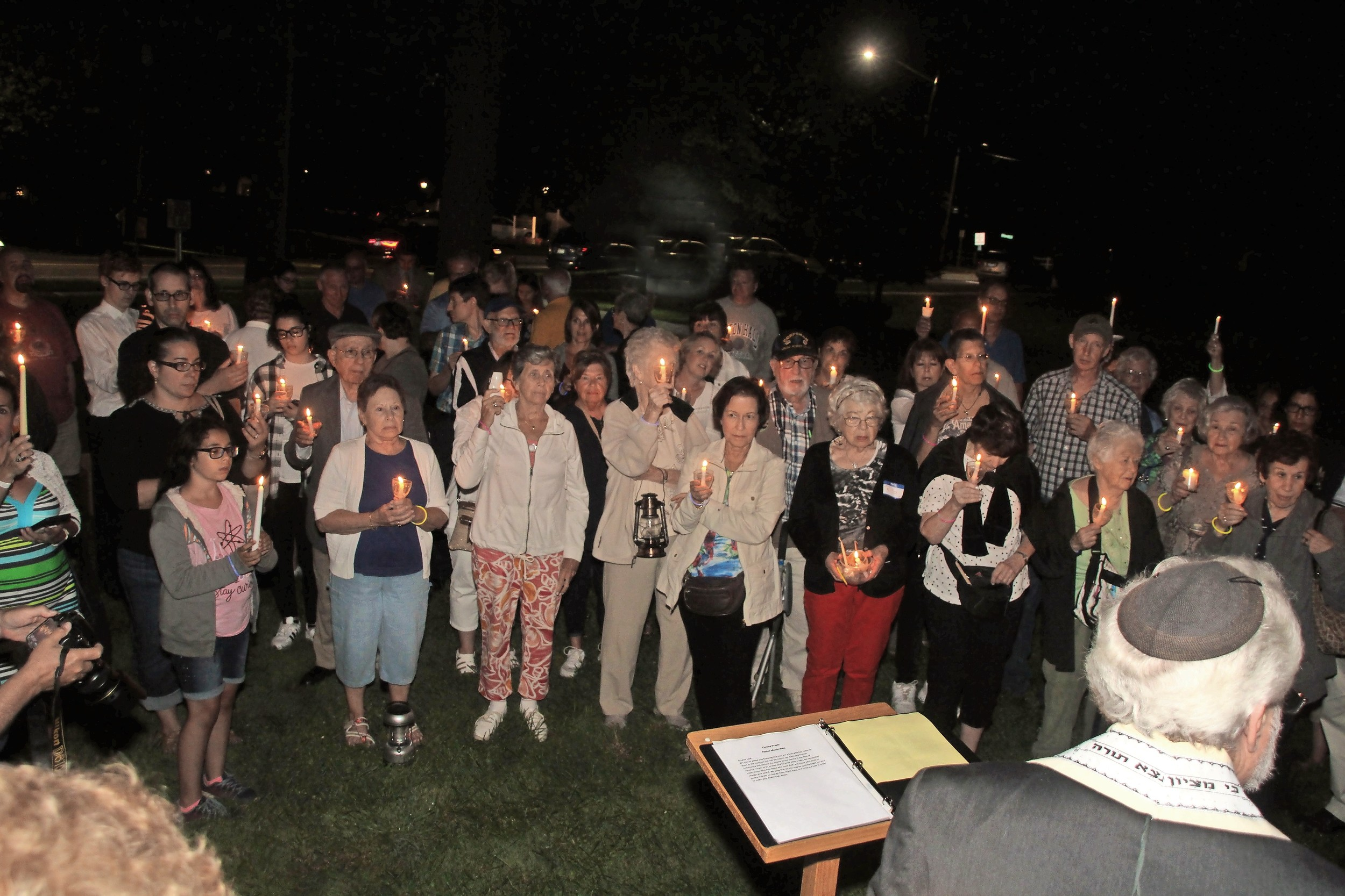 About 100 residents of Wantagh, Seaford, Bellmore, East Meadow and Levittown joined religious leaders at Wantagh Memorial Congregational Church on Aug. 26 for a vigil against hate, bigotry and prejudice.