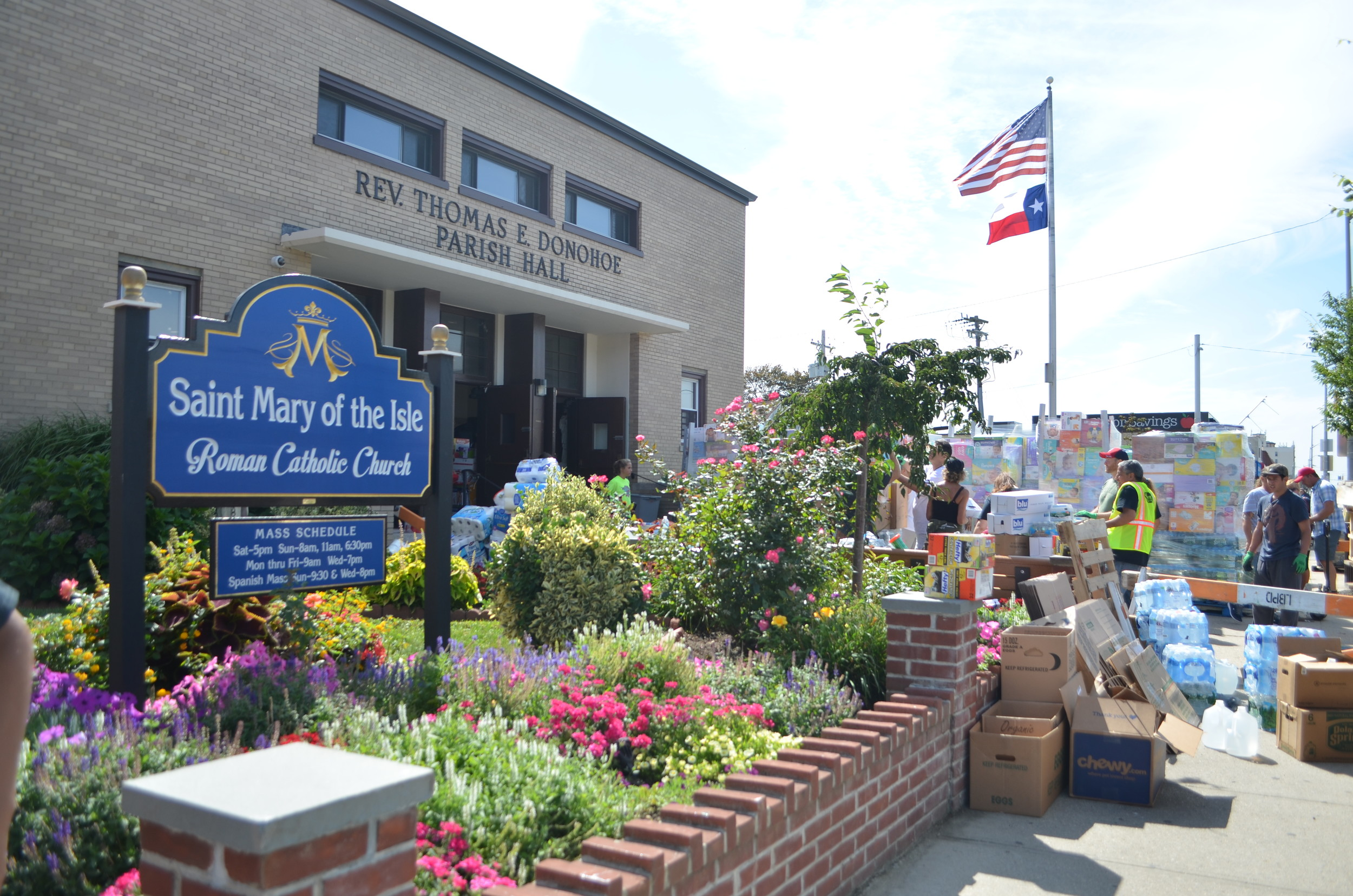 St. Mary of the Isle Roman Catholic Church has been home to a collection drive that would benefit the victims of Hurricane Harvey.