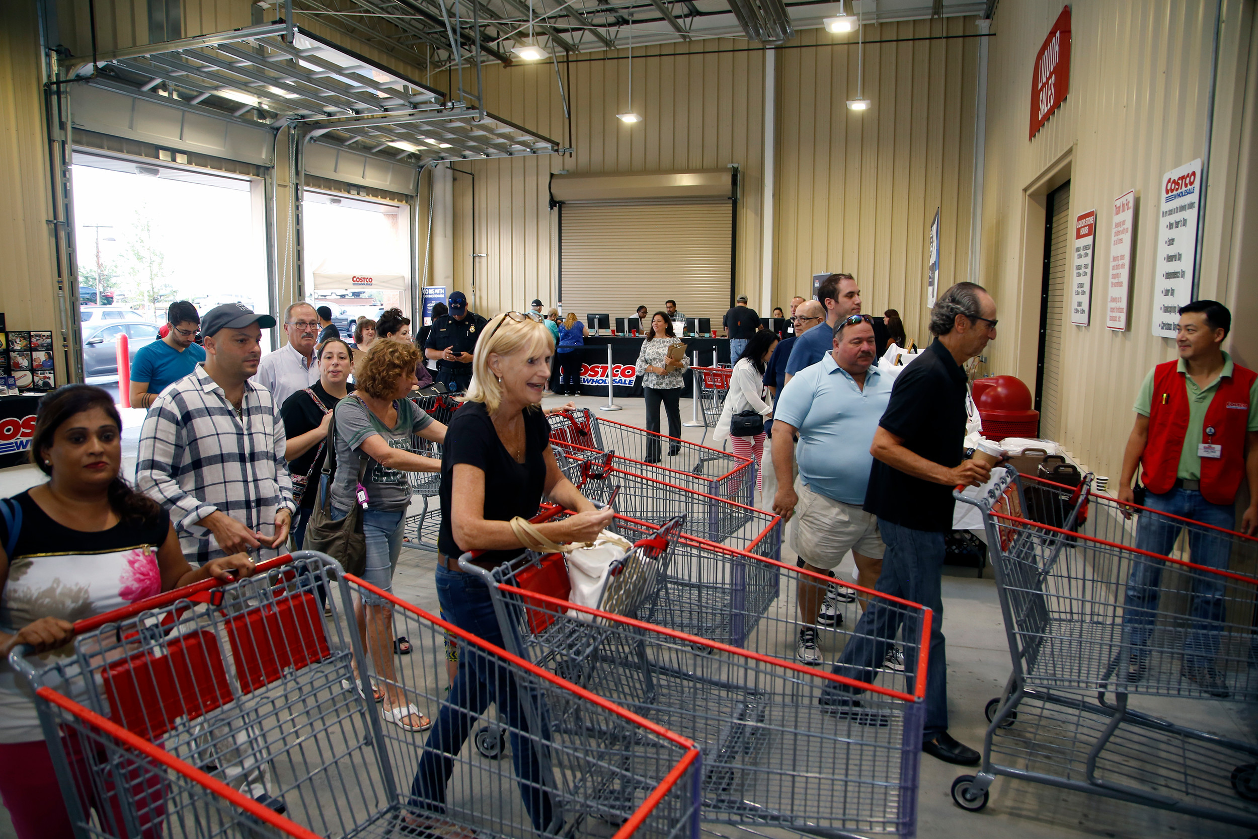 Hundreds of residents streamed into the members-only wholesale warehouse. Previously, the nearest Costco was in Lawrence, seven miles west of Oceanside.