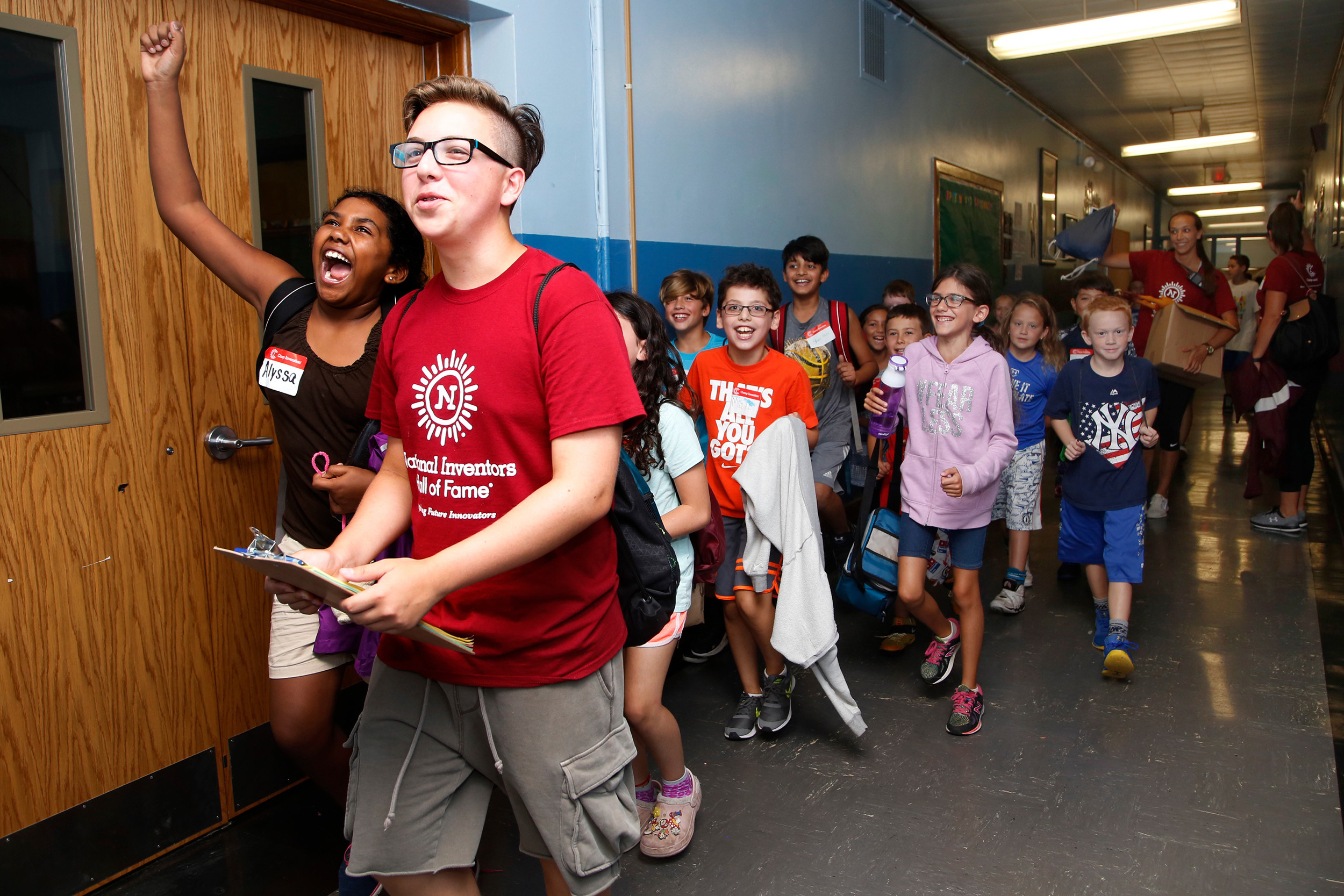 "The camp's inventors walked the hallways to the tune of, ""It's a Grand Ole Flag."""