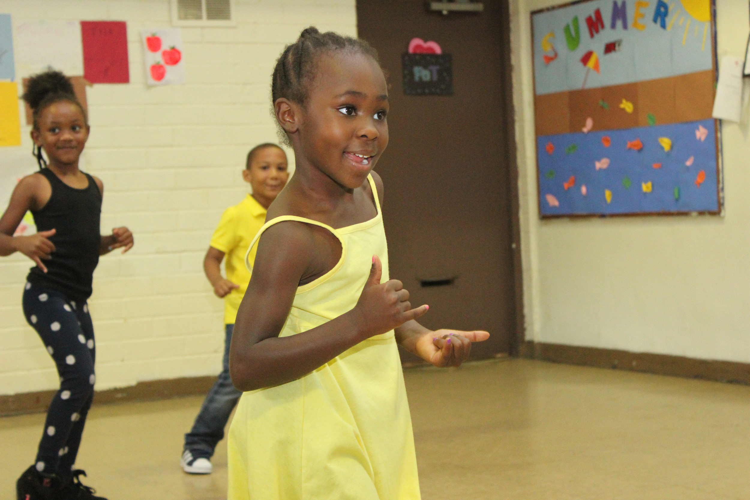 Shaliyah Lewis loved being in the spotlight as she danced in the show.