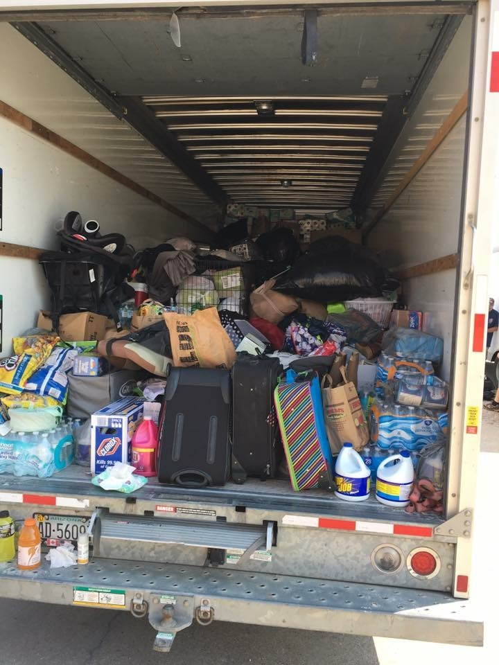 A truck filled with goods left Rockport, Texas, on Saturday and headed toward the Houston area. Former East Rockaway resident Rachel Silverstein, who now lives in Texas, helped organize the collection.