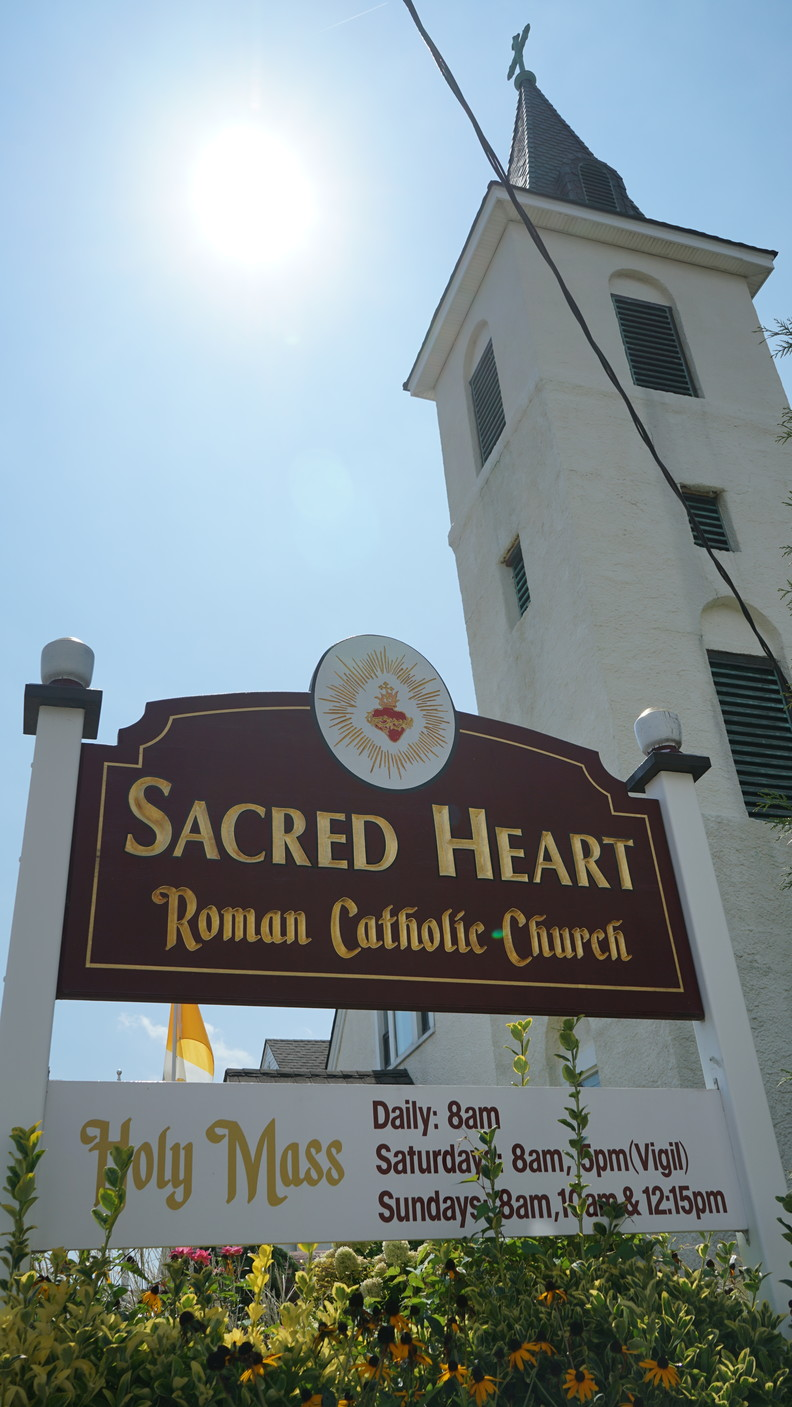 Sacred Heart church in Island Park held monetary collections during it's weekend services.
