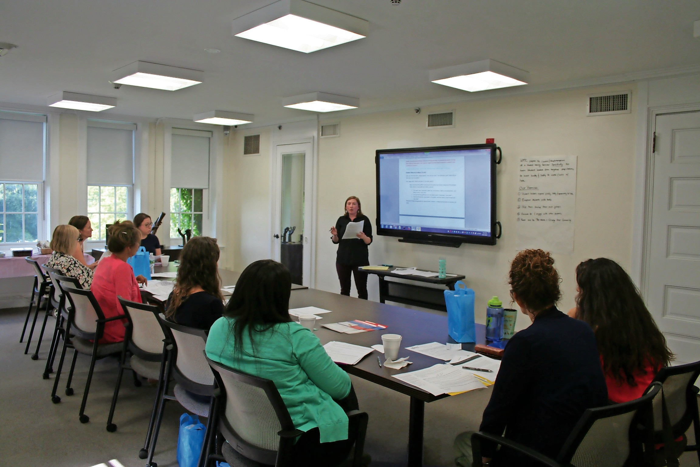 Adolescent Advocates Program manager Helen Turner held the first adult mentor training session on Aug. 17.