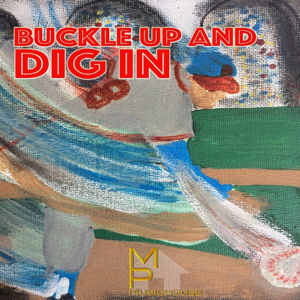 "The track art for ""Buckle Up and Dig In,"" a country music song based on OHS literature teacher Frank Nappi's novel series about an autistic major league baseball player."