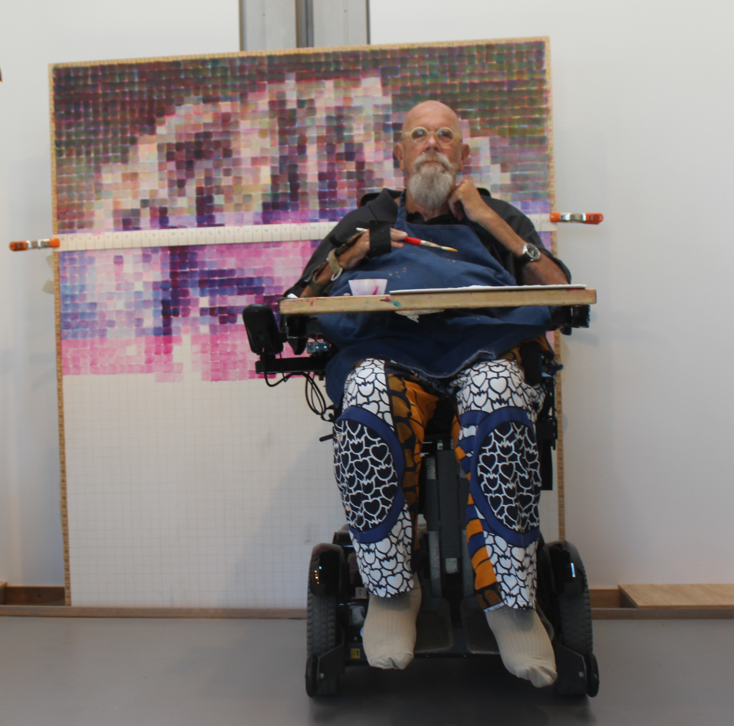 Artist Chuck Close in his Long Beach home.