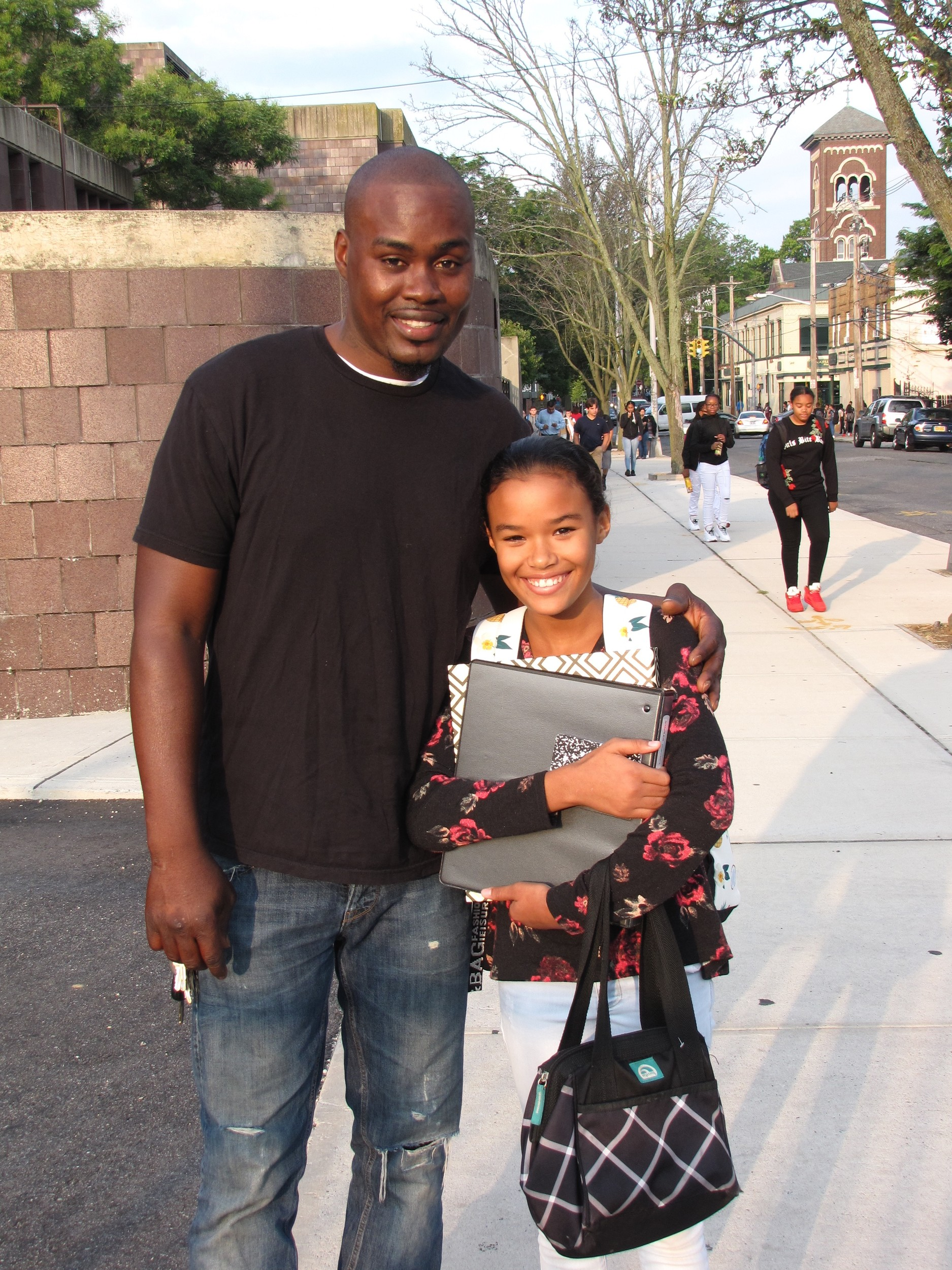 Oneal Willocks and his daughter Isabel Willocks, seventh grader at J.W. Dodd Middle School were all smiles.