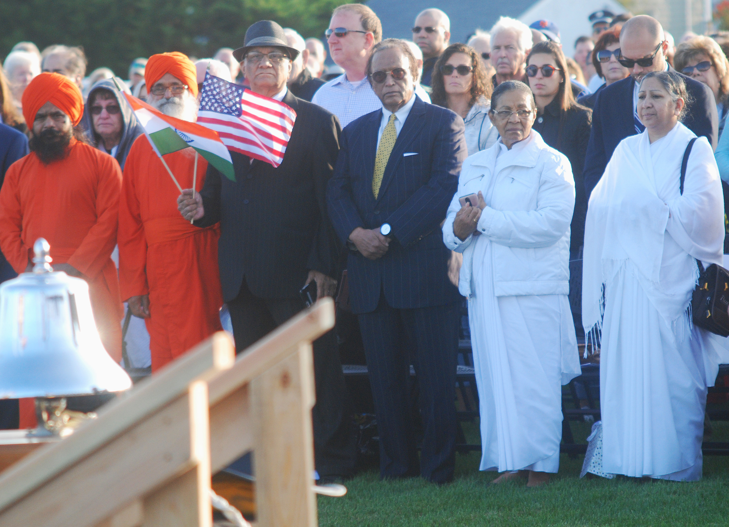 Representatives of multiple religions took part in the dedication ceremony.