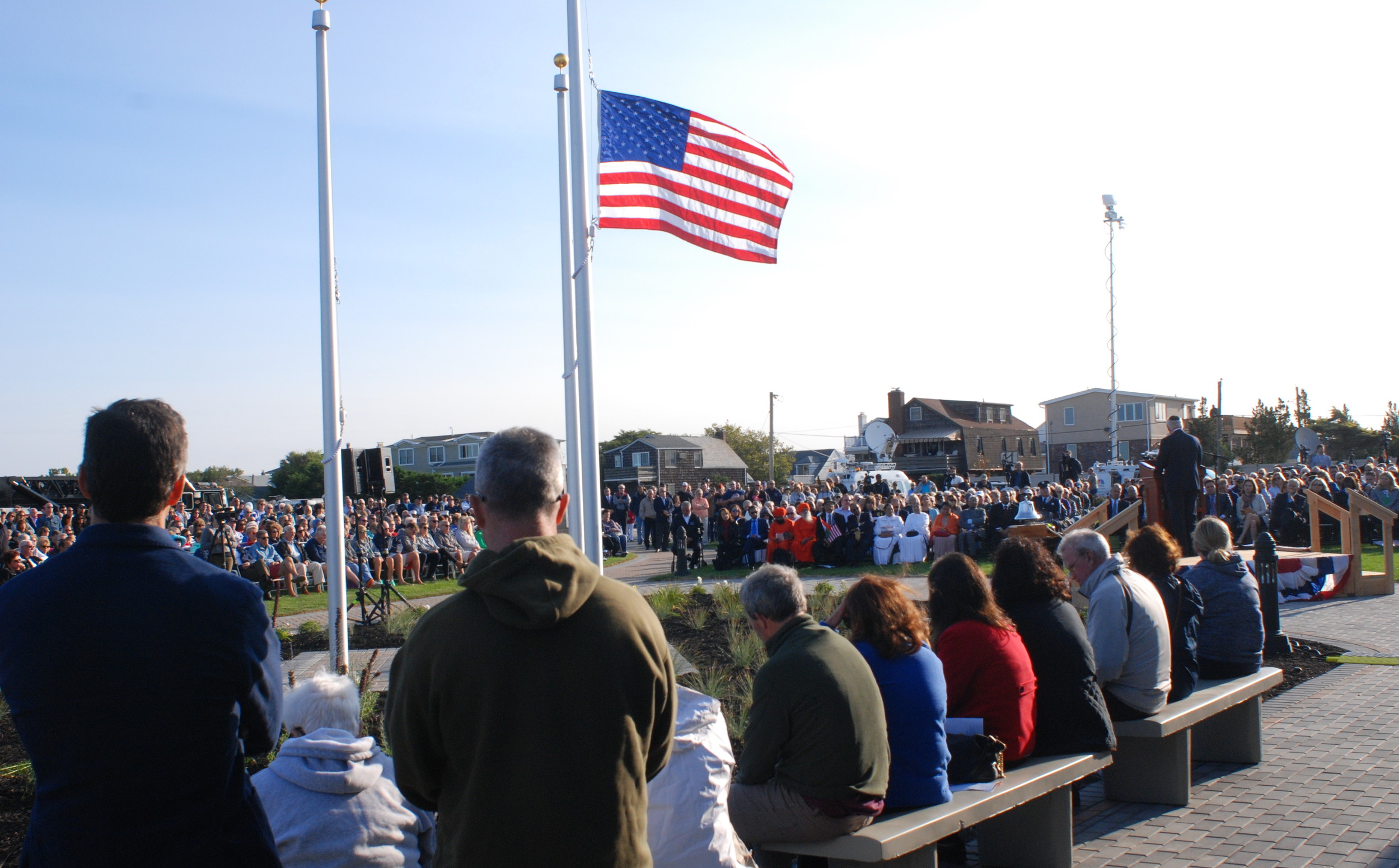 The Town of Hempstead estimated that more than a thousand people attended the dedication ceremony.