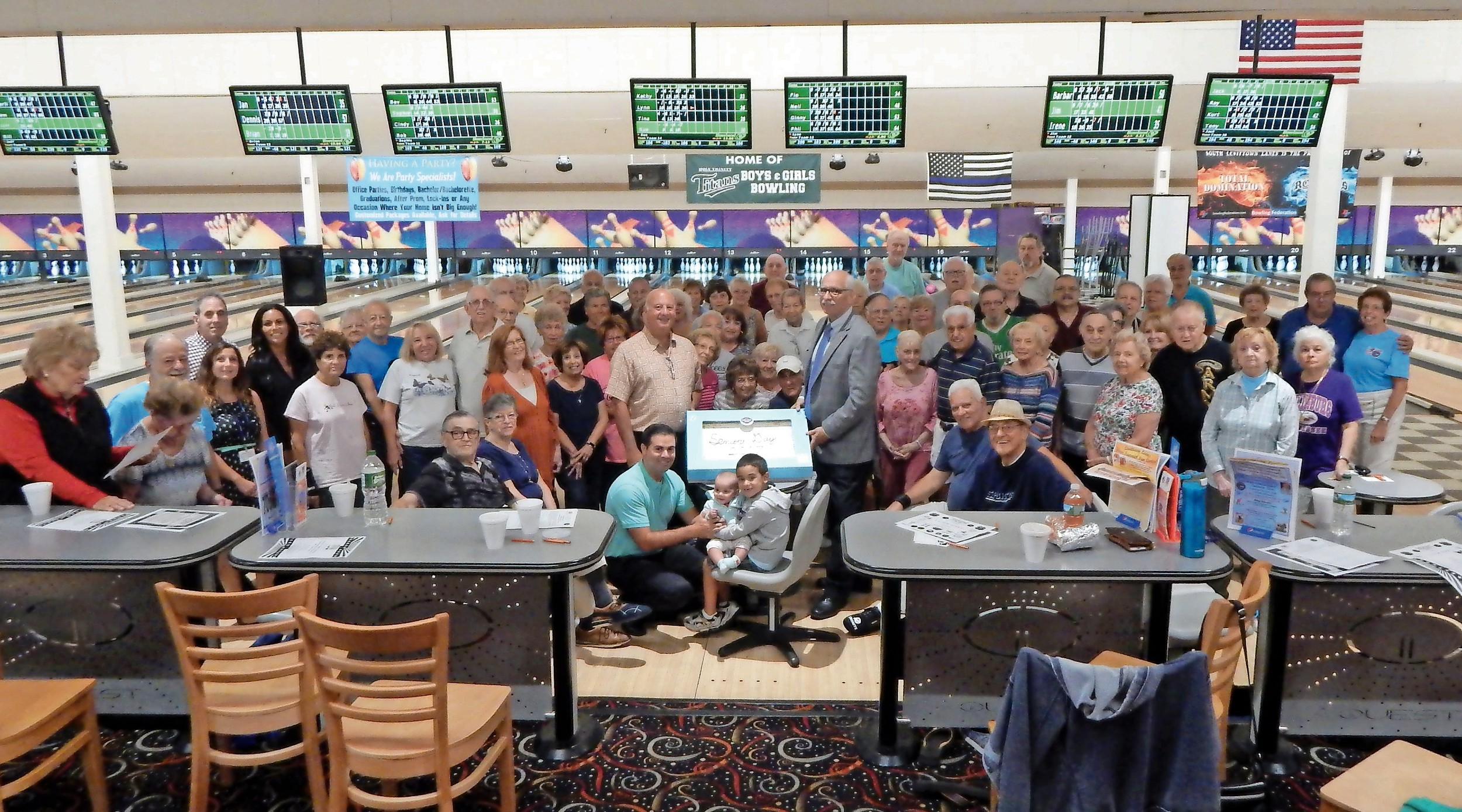 Wantagh, Seaford and Levittown seniors enjoyed breakfast and bowling at Hempstead Town's Senior Appreciation Day at Levittown Lanes.