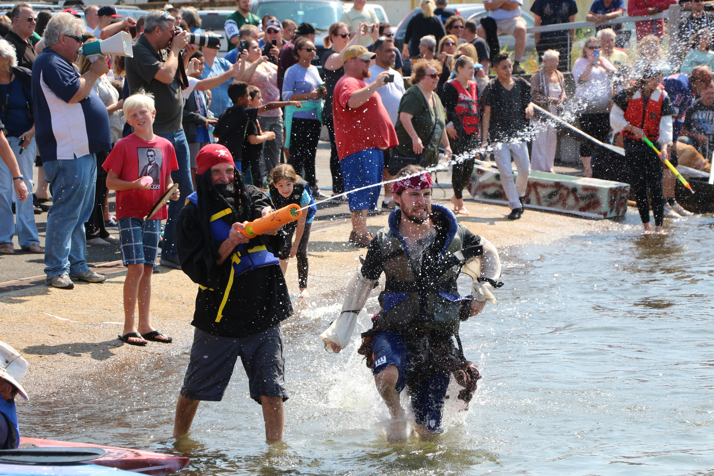 spectators and competitors alike came prepared 