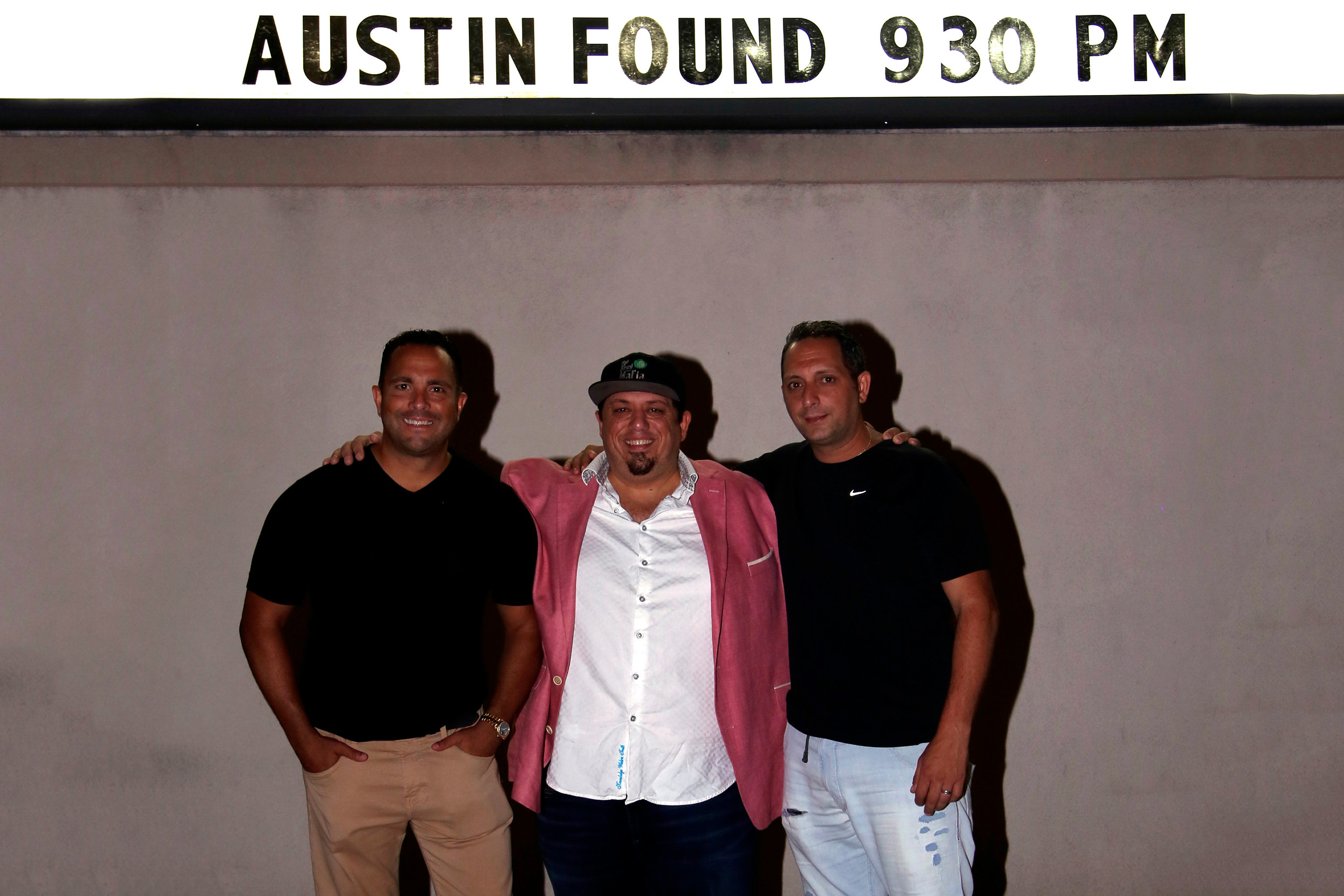 "Oceanside native movie and TV producer Danny Costanzo, center, at a local premiere of his first feature film ""Austin Found"" with executive producers Matt Proman, left, and Ben Costanzo."