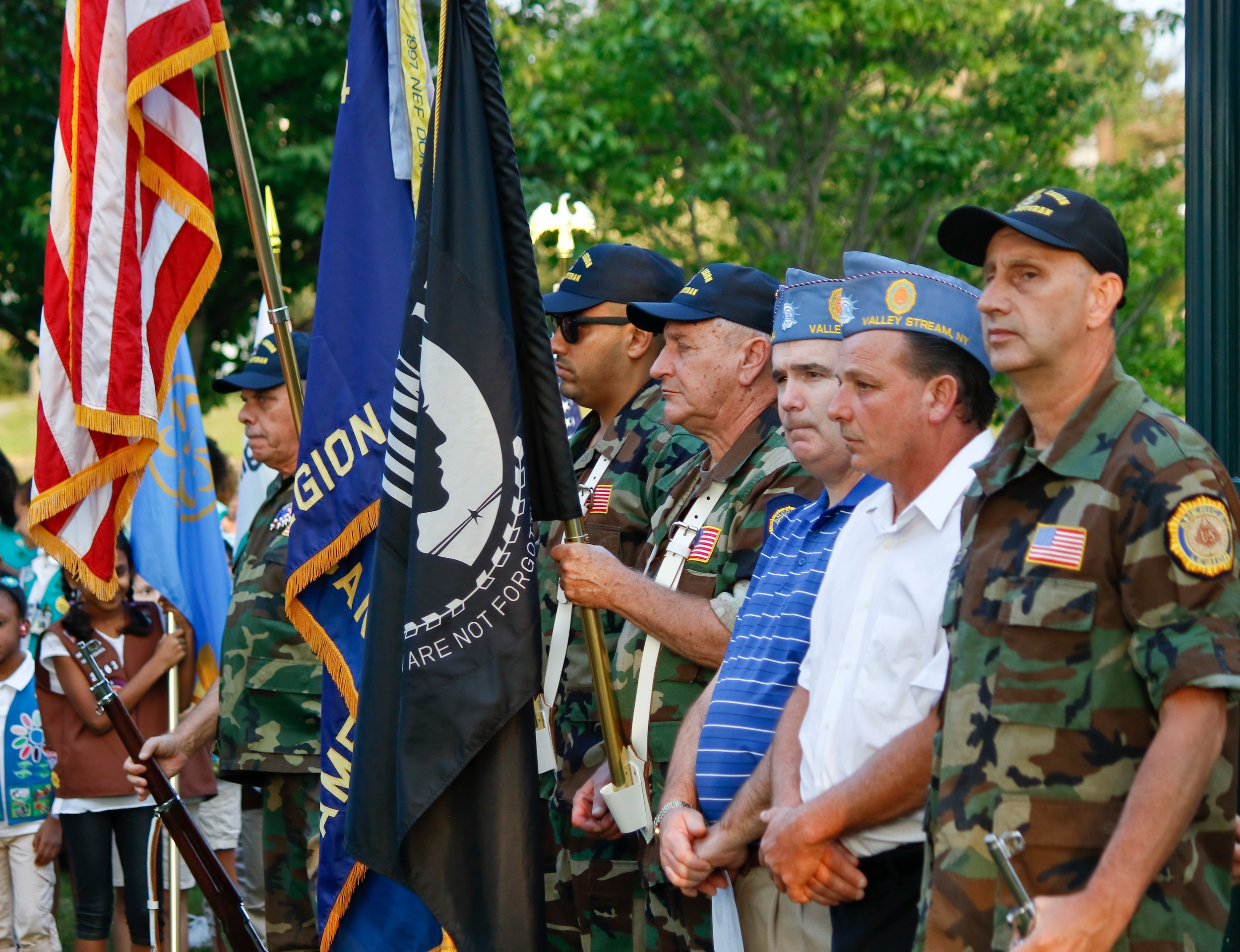 American Legion and Veteran of Foreign War members participated in the ceremony.