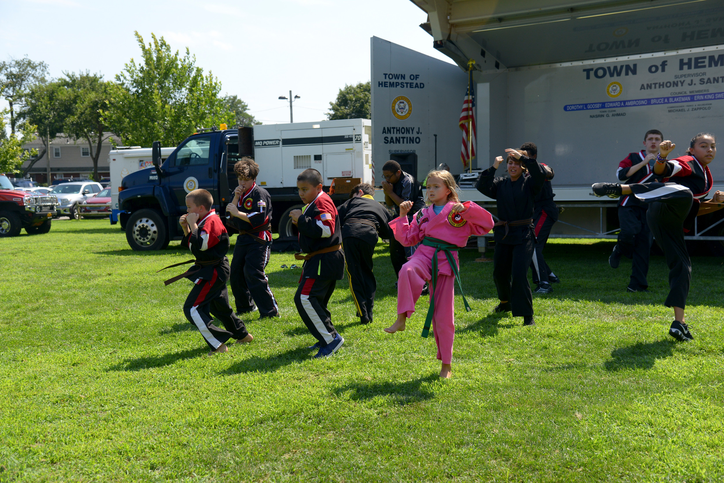 Students from Shaolin Self Defense gave a karate demonstration at the Oceanside Chamber of Commerce's Fam Fest on Aug. 19.
