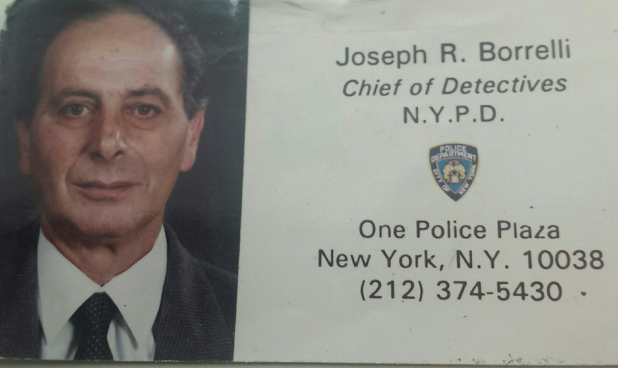 Joseph Borrelli, seen here on his police card, was part of a task force assigned to catch the Son of Sam after a series of murders throughout New York City in 1976 and 1977. Police arrested David Berkowitz on Aug. 10, 1977.