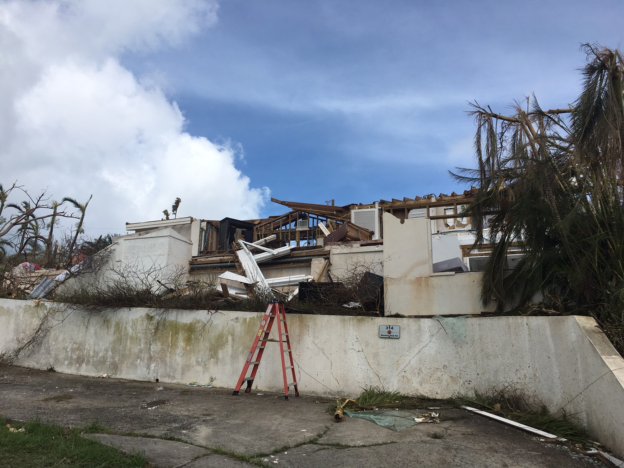 Jennie Rabinowitz, formerly of Merrick and now a resident of St. Thomas, in the U.S. Virgin Islands, witnessed the devastation wrought by Hurricane Irma firsthand before fleeing to Puerto Rico.