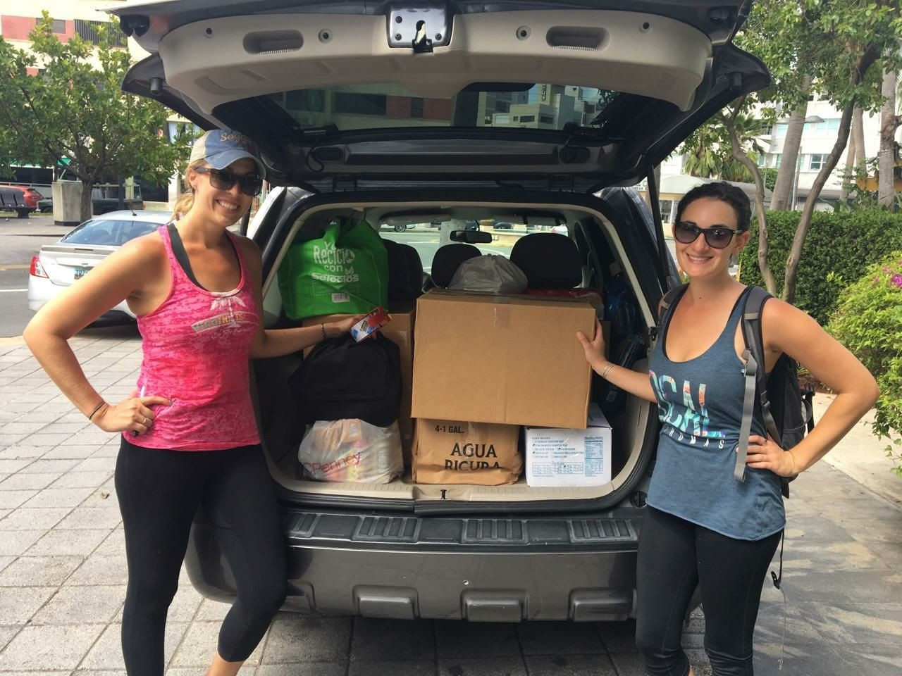 Rabinowitz, right, and her friend Chrystie Payne have been mobilizing to get medical supplies to St. Thomas from Puerto Rico this week, in the wake of Hurricane Irma.