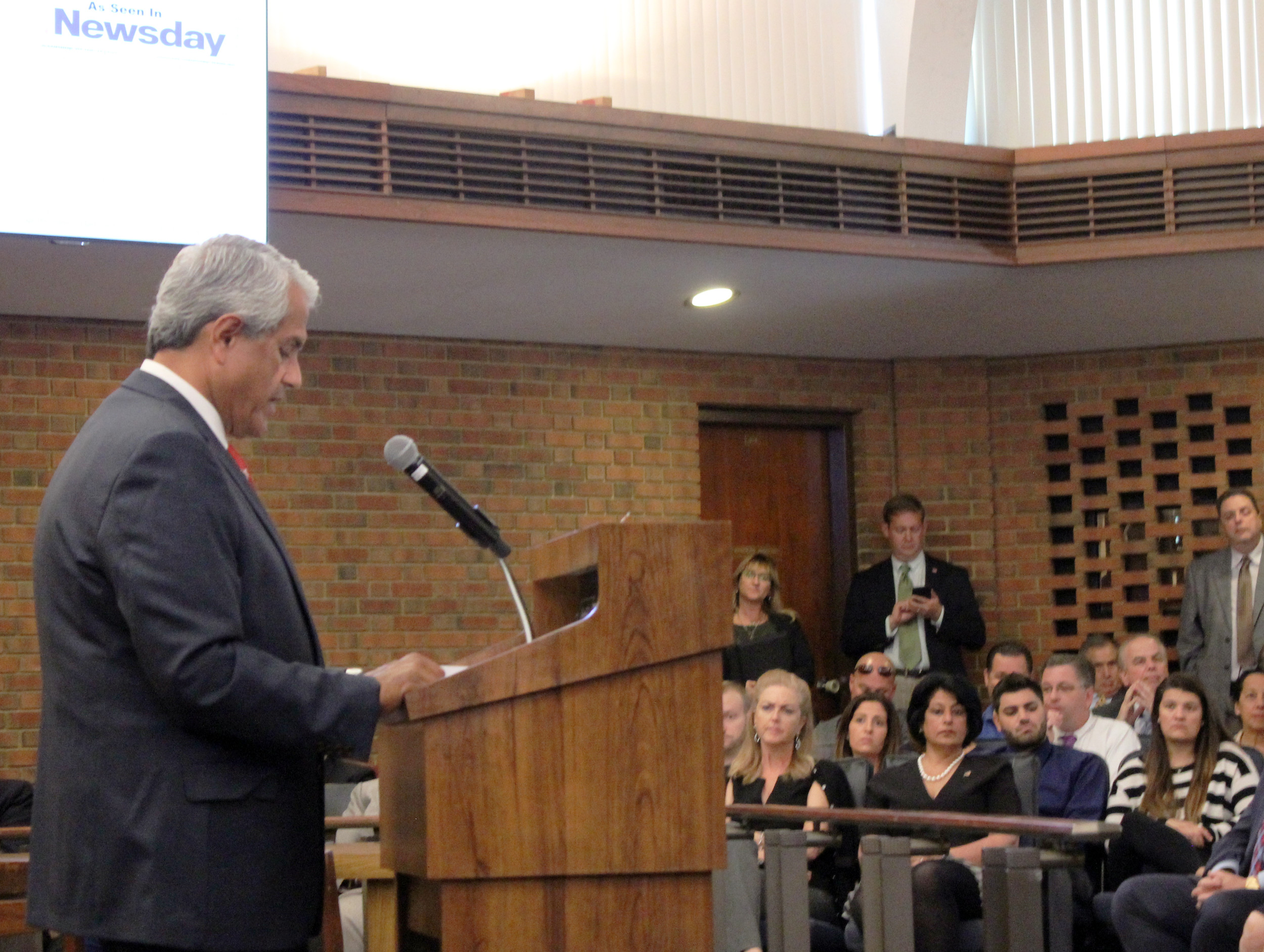 Town of Hempstead Supervisor Anthony Santino delivered his State of the Town address on Sept. 13, touting the town's financial achievements since he took office nearly two years ago.