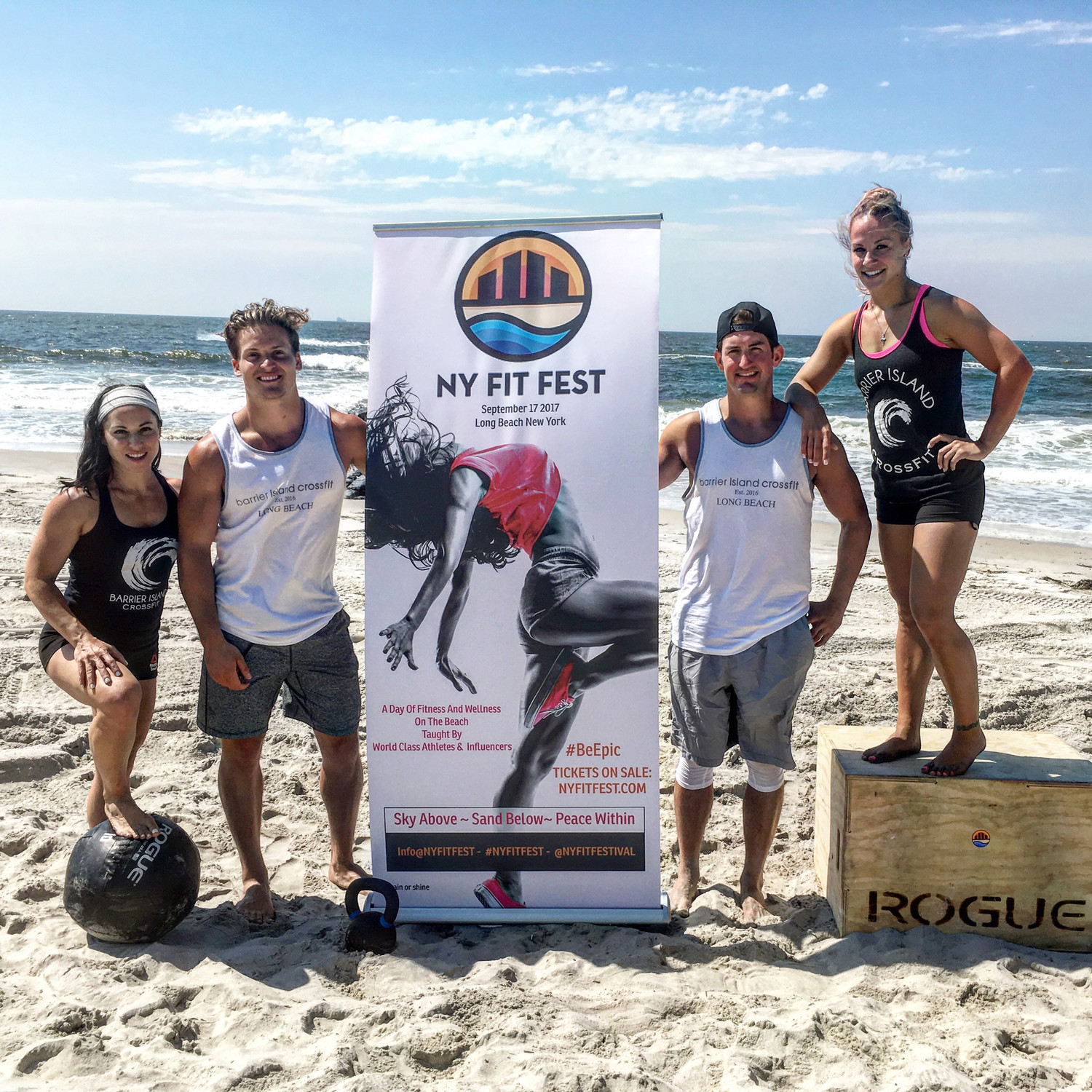 Barrier Island CrossFit owner Lori McMahon, left, with Charles Barber, Nick Mancuso and Lisa Bonsignore.