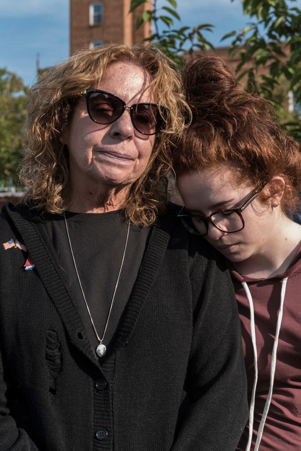 Tina Zuccala Cammarata & daughter Christina.Tina's brother Joseph Zuccala died when the 2nd plane hit the tower.
