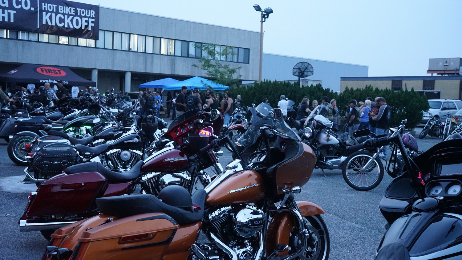 Hundreds of motorcyclists descended on First Manufacturing's Oceanside leather distribution warehouse on Sept. 5 for the kick off to Hot Bike Magazine's 2017 bike tour. The roughly 780-mile ride south would end in Johnson City Tenn. with overnight stops in Pennsylvania and Georgia.