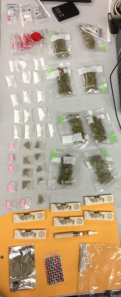 Controlled substances that the Long Island Heroin Task Force recovered in Franklin Square on Sept. 17., according to police.