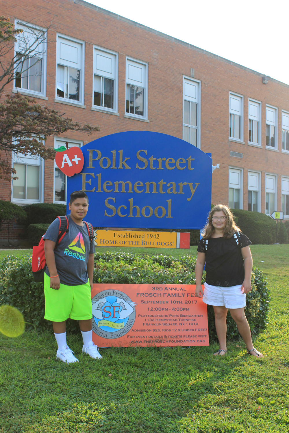 John and Sofia Solomon, in sixth and fifth grade, respectively, were ready for the new school year to begin.