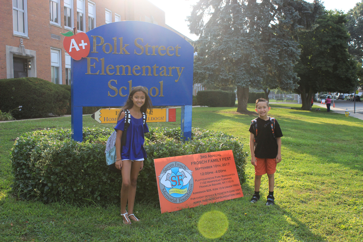 Arianna and Anthony Cavaliere were ready to start their school years in sixth and third grade, respectively.