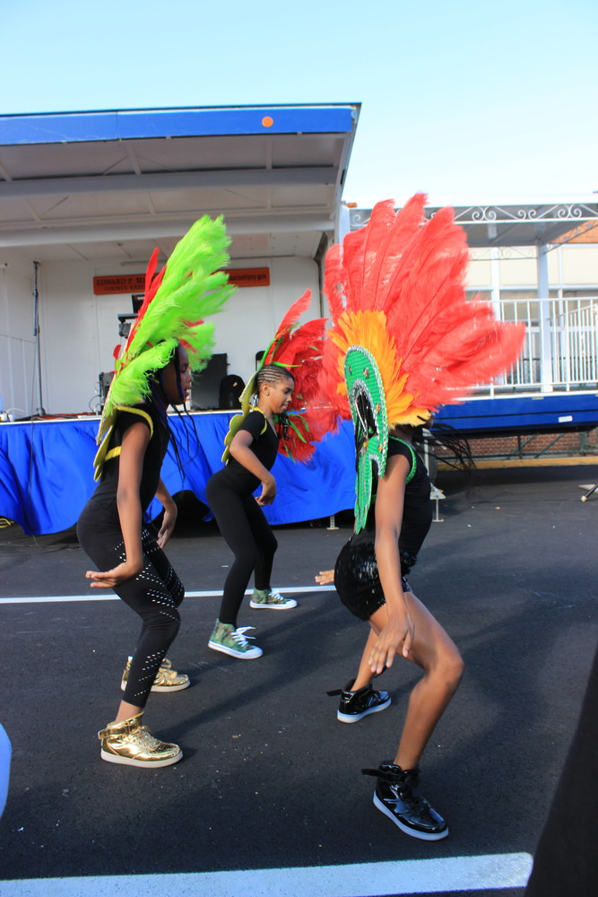 Performers from Layla's Dance and Drum in North Valley Stream did the Soca dance at the Elmont Family Fun Day on Sept. 9.