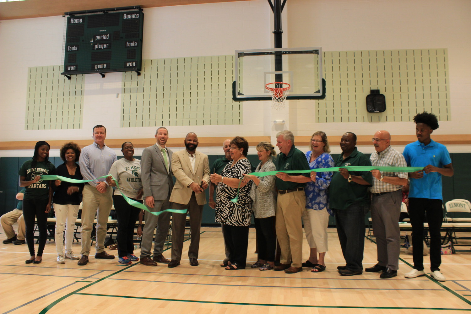Over the past six years, Elmont Memorial High School, with the help of the school board and district voters, has updated and added onto its building. A ribbon cutting on Sept. 9 was held to commemorate the improvements.