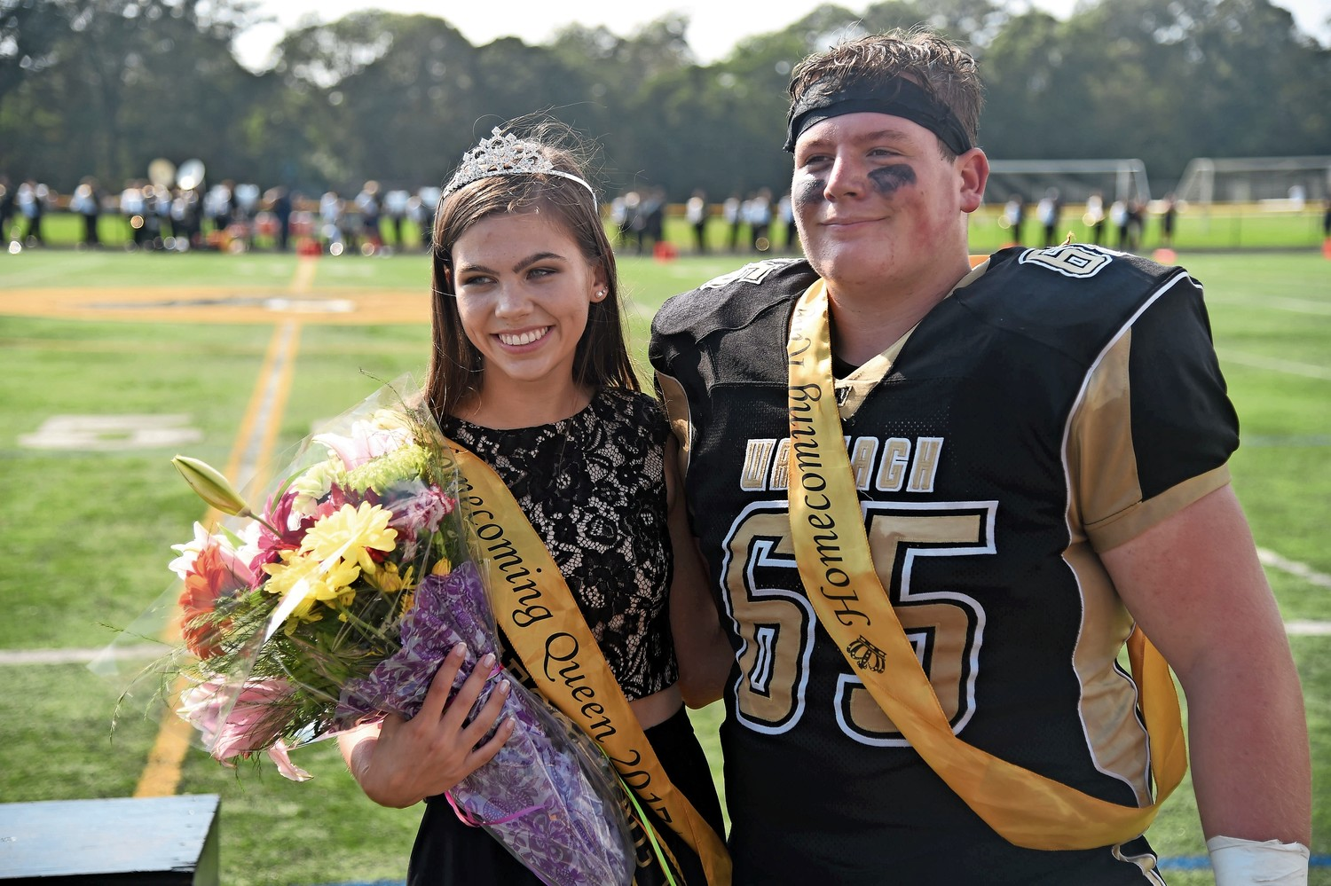 Kyleigh Watson and Logan von Runnen were named the Homecoming king and queen.
