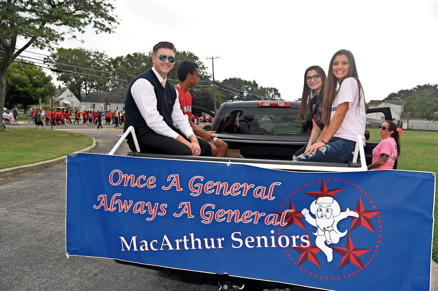 MacArthur High School seniors represented their class in the Homecoming parade on Sept. 16.