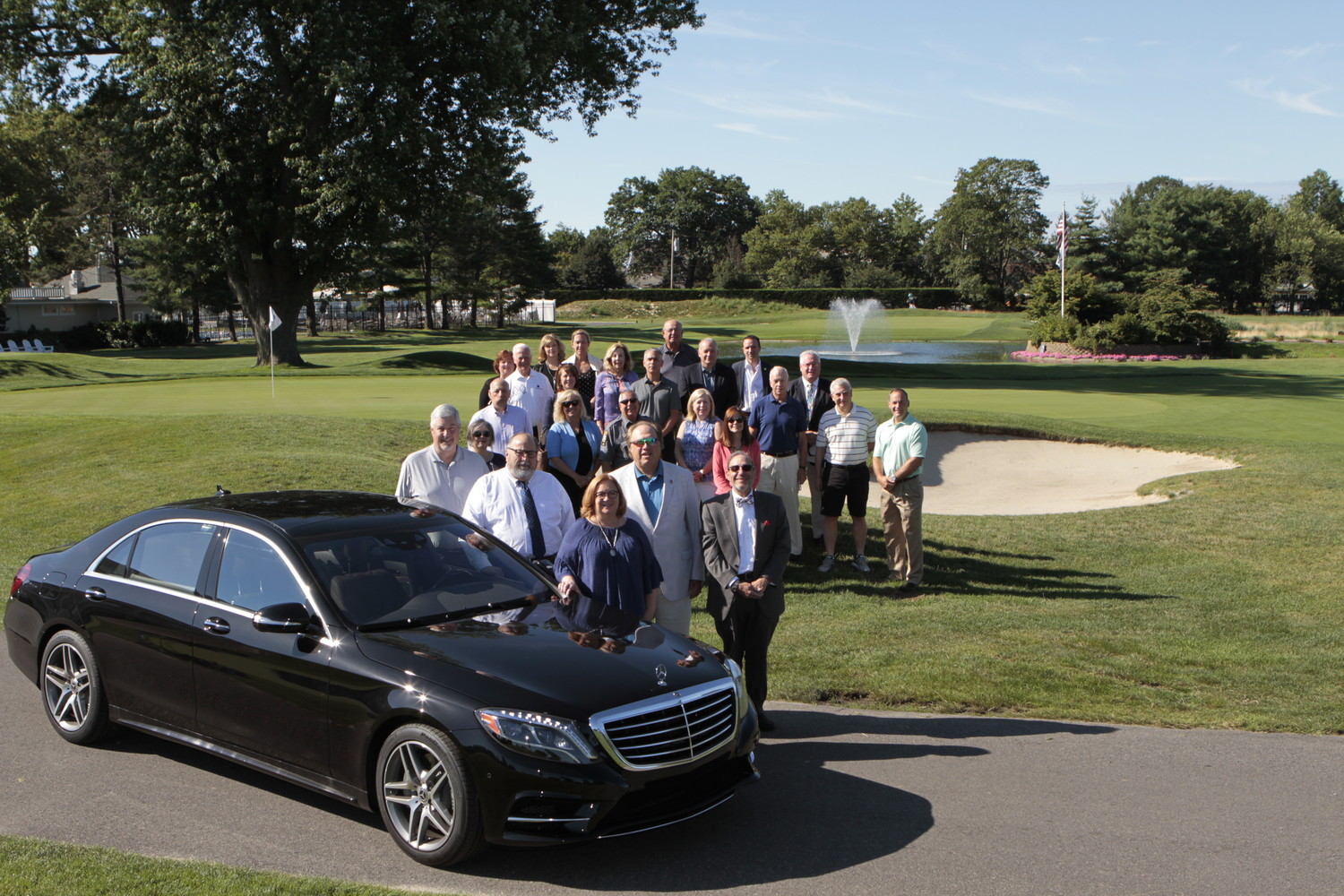 Former Rockville Centre Deputy Mayor Nancy Howard, front, alongside other village officials and community members, will be honored at the 30th Annual Mayor's Golf Classic on Sept. 25.