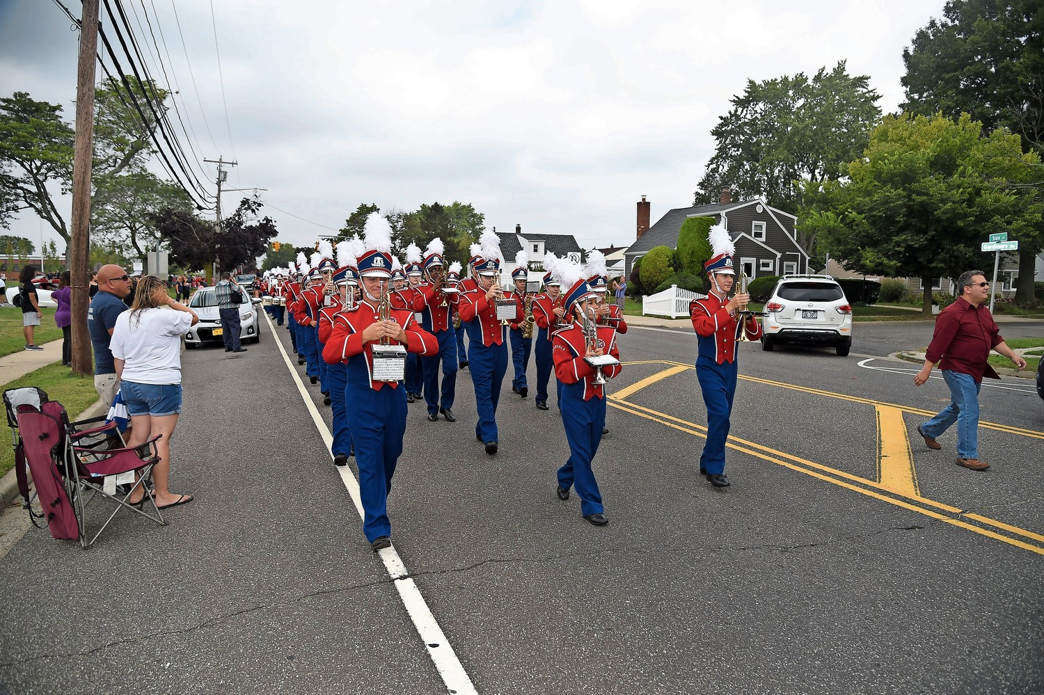 The MacArthur High School marching band led the Homecoming parade on Sept. 16.