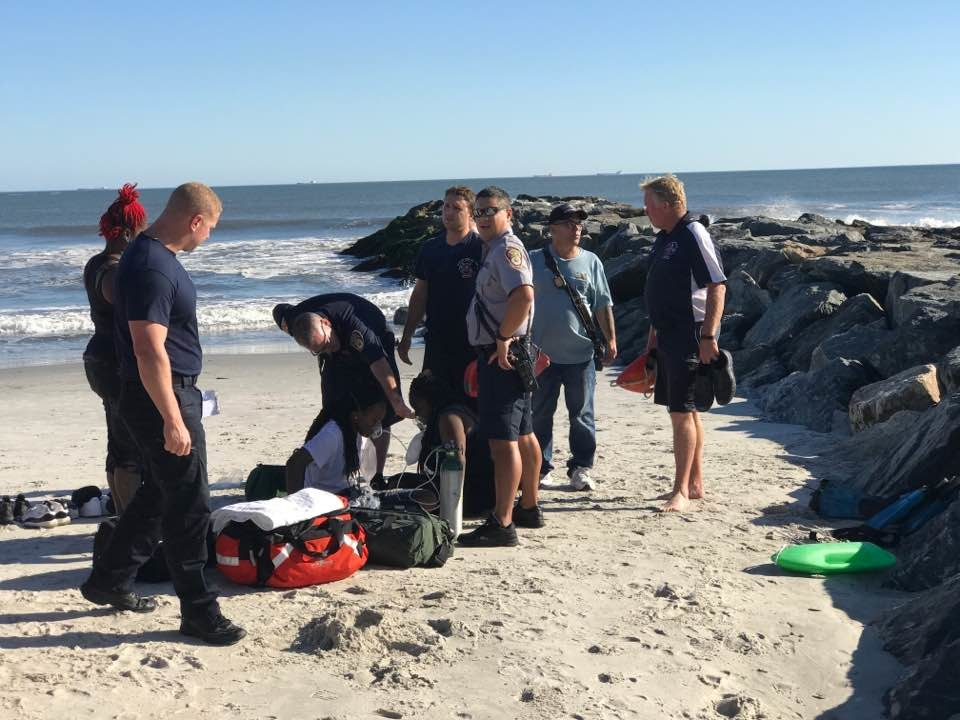 Rhame Avenue Principal Erik Walter was among the good Samaritans and firefighters who pulled two people from the ocean who fell off a jetty in Long Beach on Sept. 23.